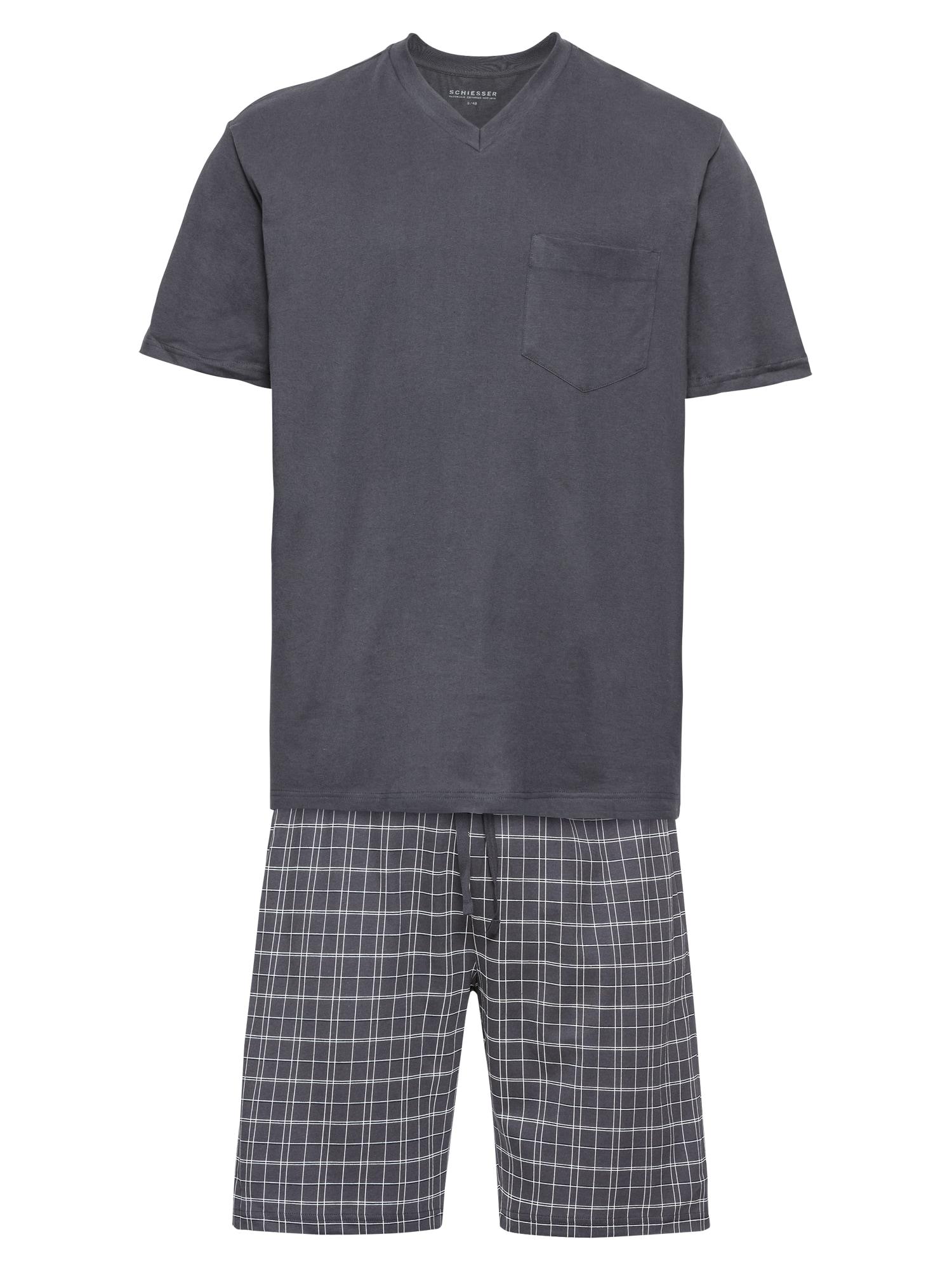 Pyžamové kalhoty Anzug Kurz antracitová SCHIESSER