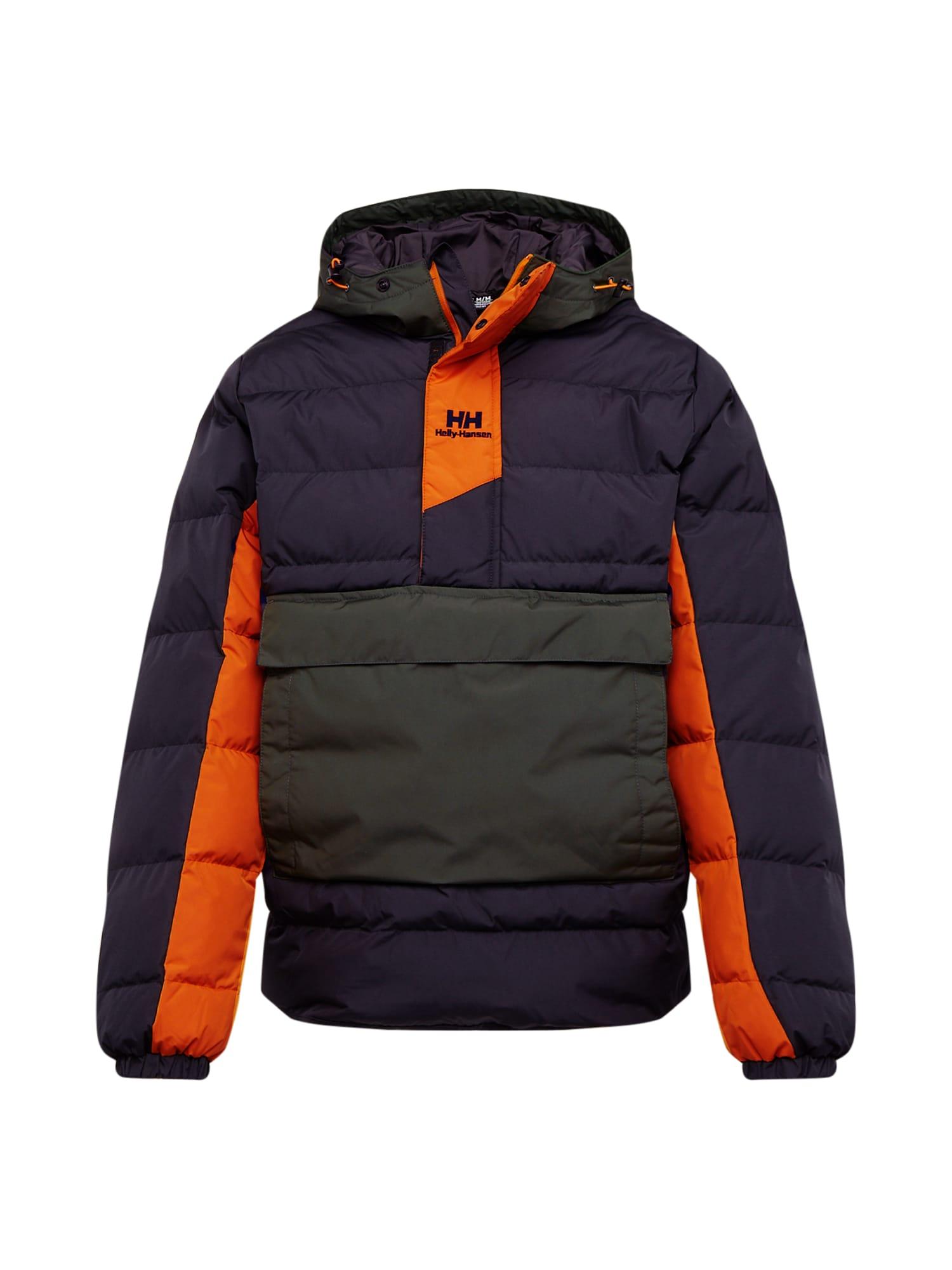 HELLY HANSEN Zimní bunda 'PUFFER'  olivová / oranžová / černá