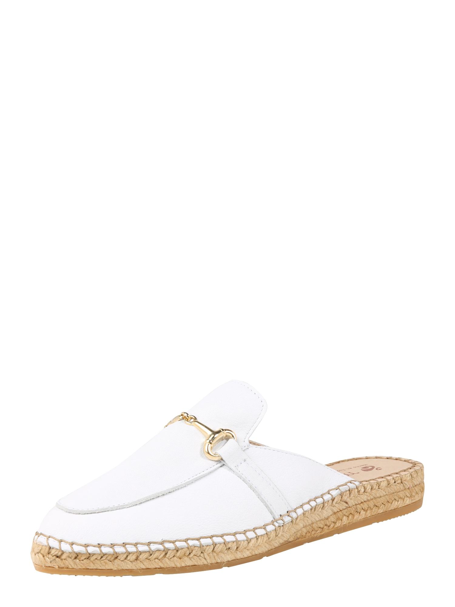 Pantofle IMA6 béžová bílá MACARENA