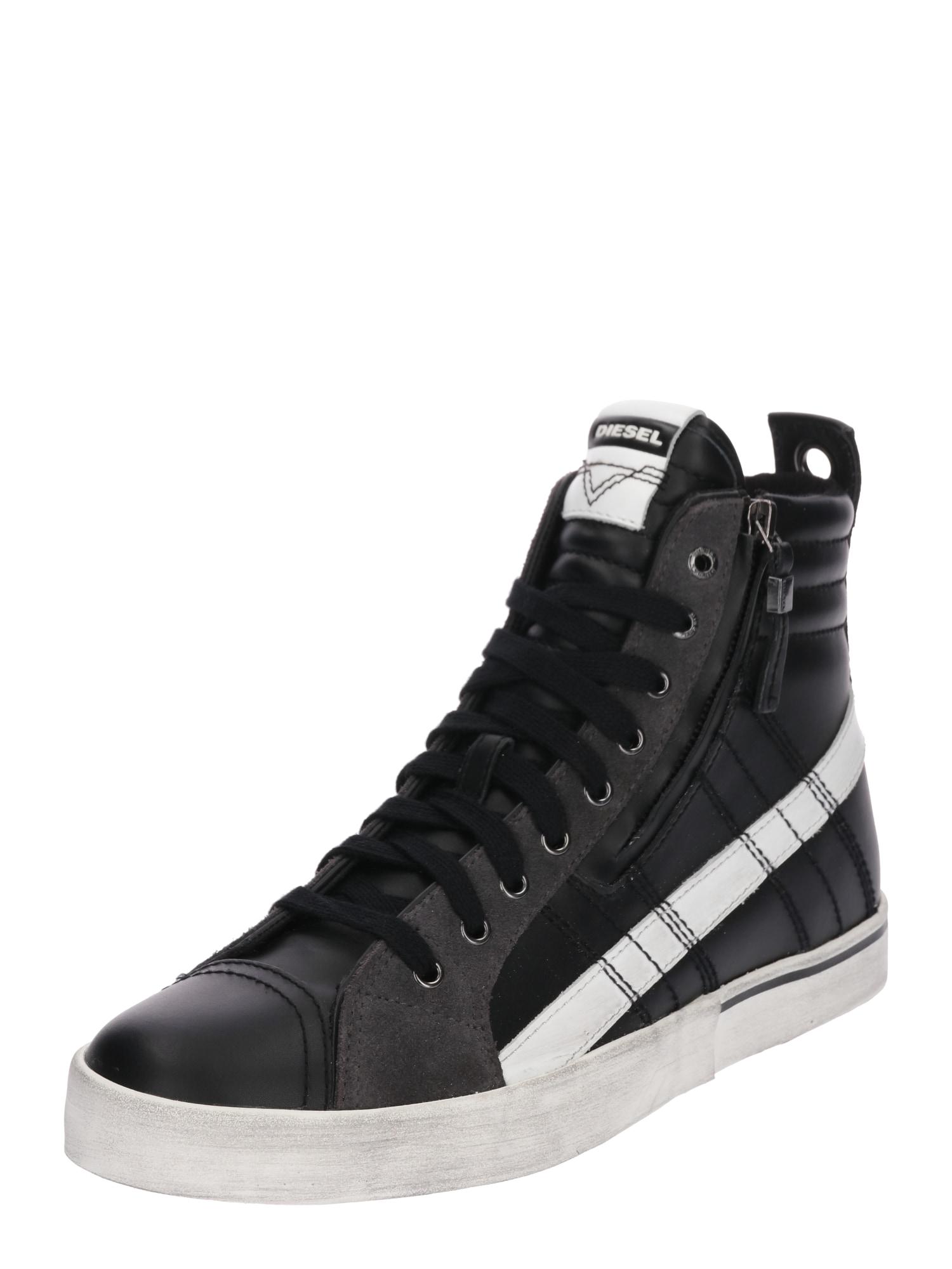 DIESEL Heren Sneakers hoog D-VELOWS zwart wit