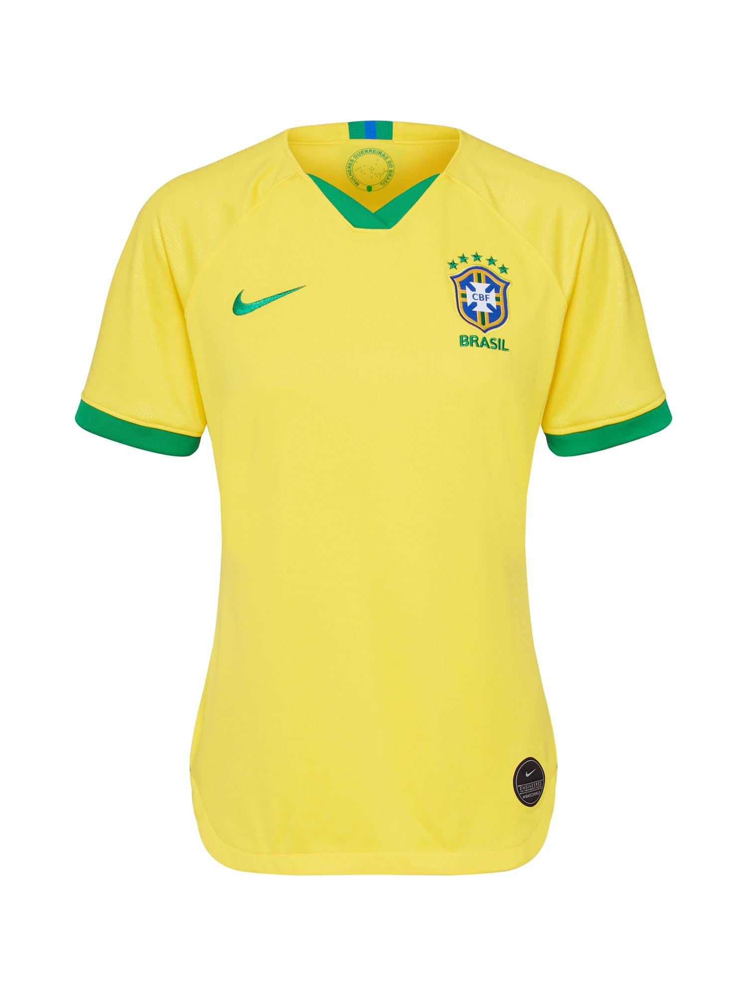 Funkční tričko žlutá zelená NIKE