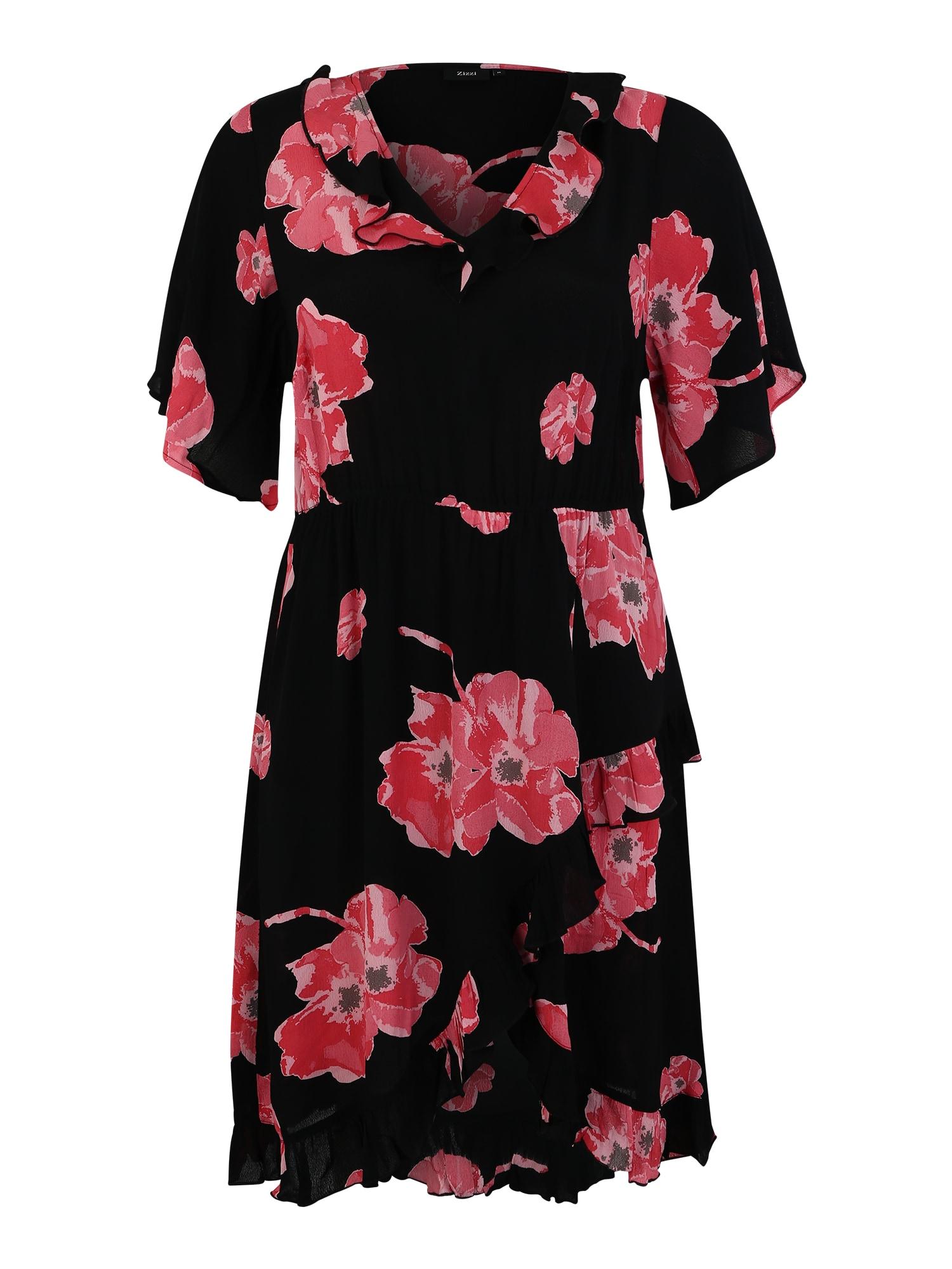 Šaty XANNIKA pink černá Zizzi