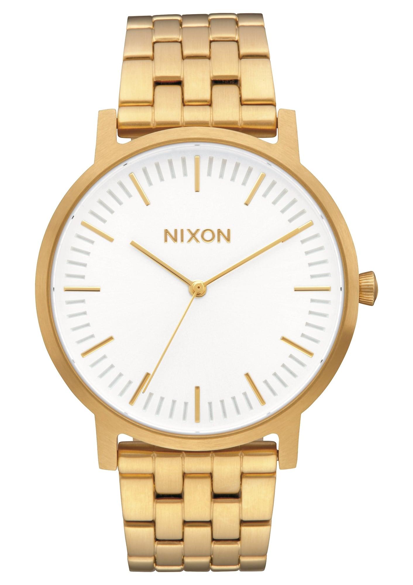 Analogové hodinky Porter zlatá bílá Nixon