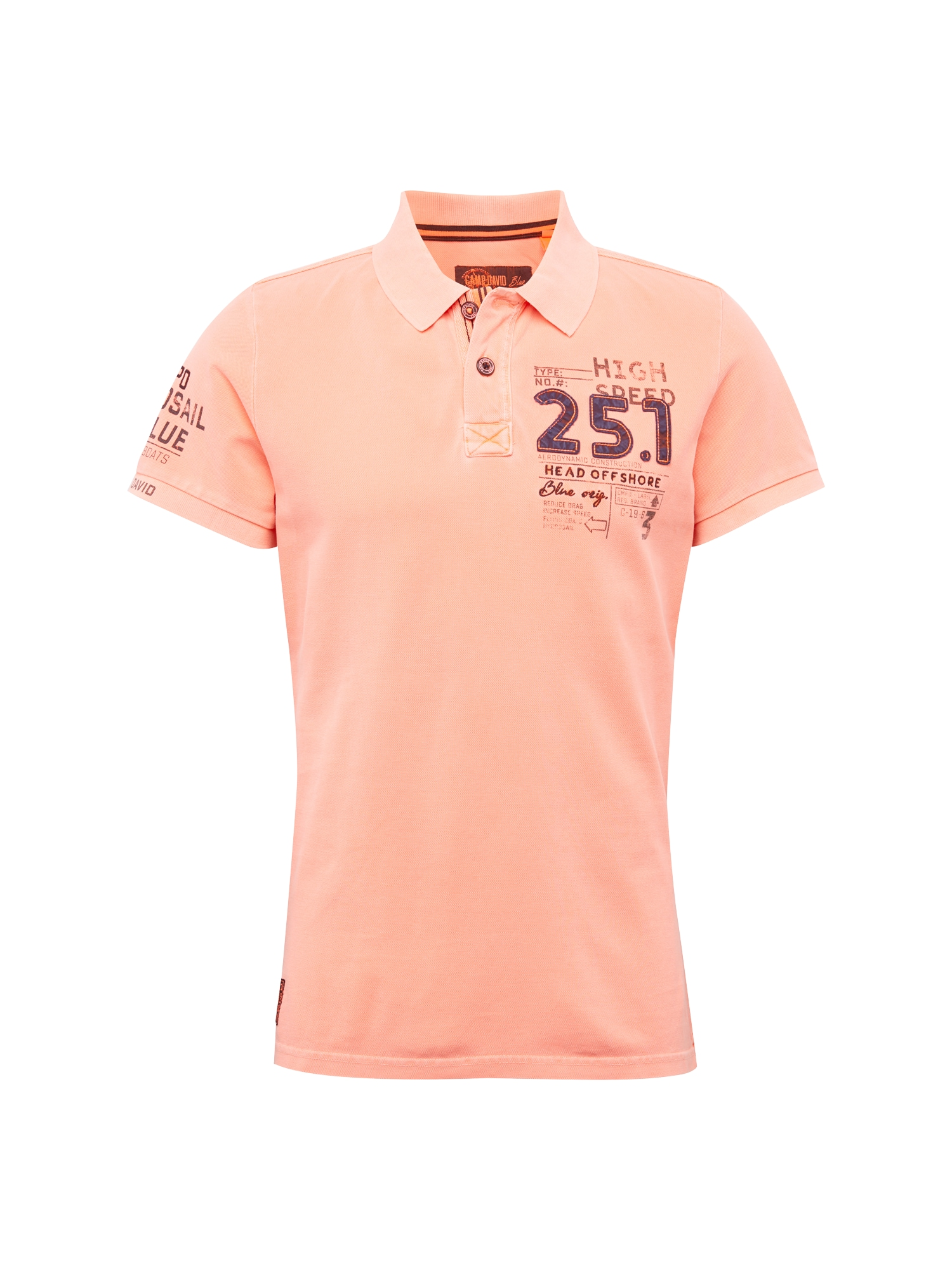 Tričko svítivě růžová CAMP DAVID