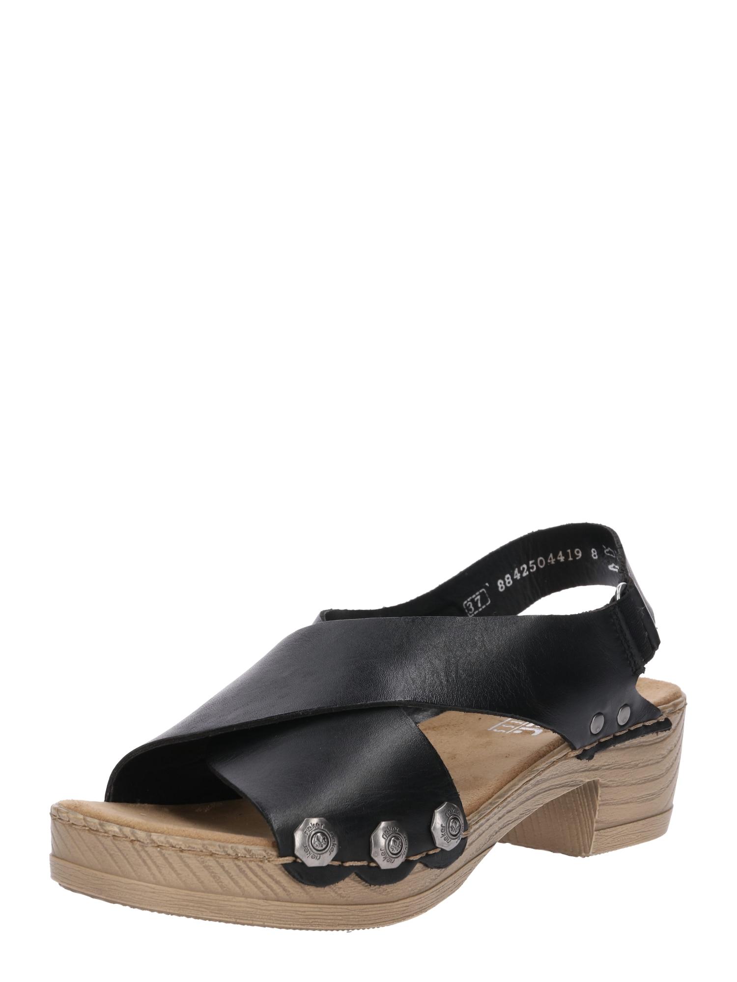 Sandály V6888-00 černá RIEKER