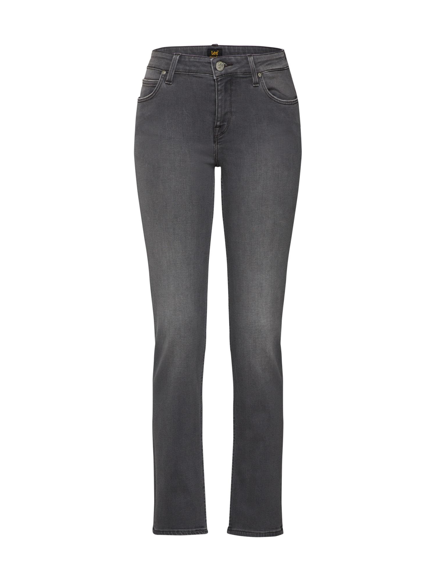 Lee Dames Jeans Marion Straight grijs