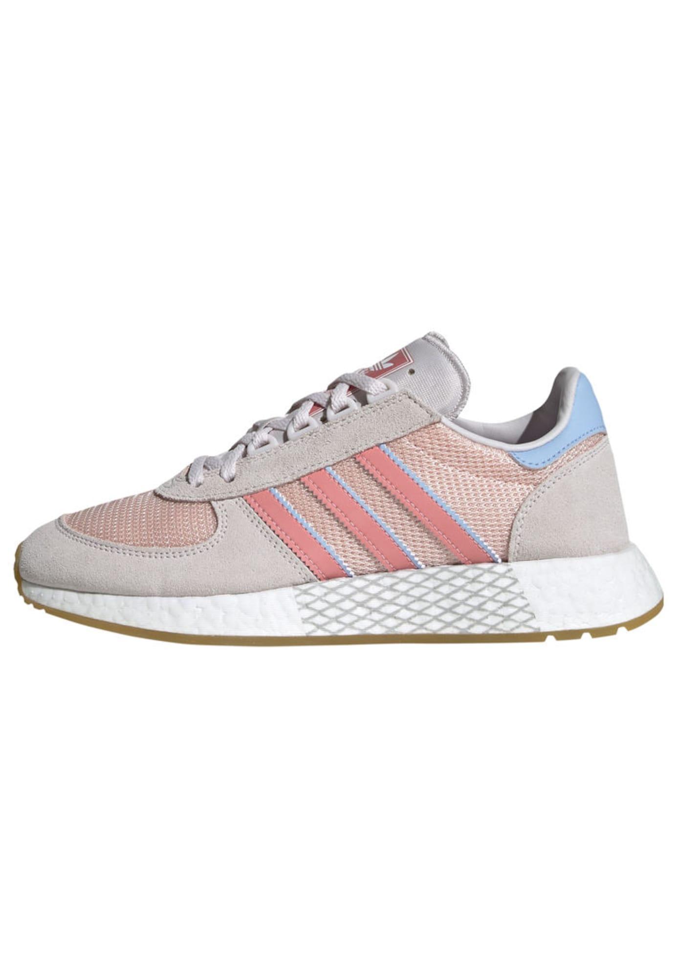 Tenisky Marathon Techu W světlemodrá pink růžová pastelově růžová ADIDAS ORIGINALS