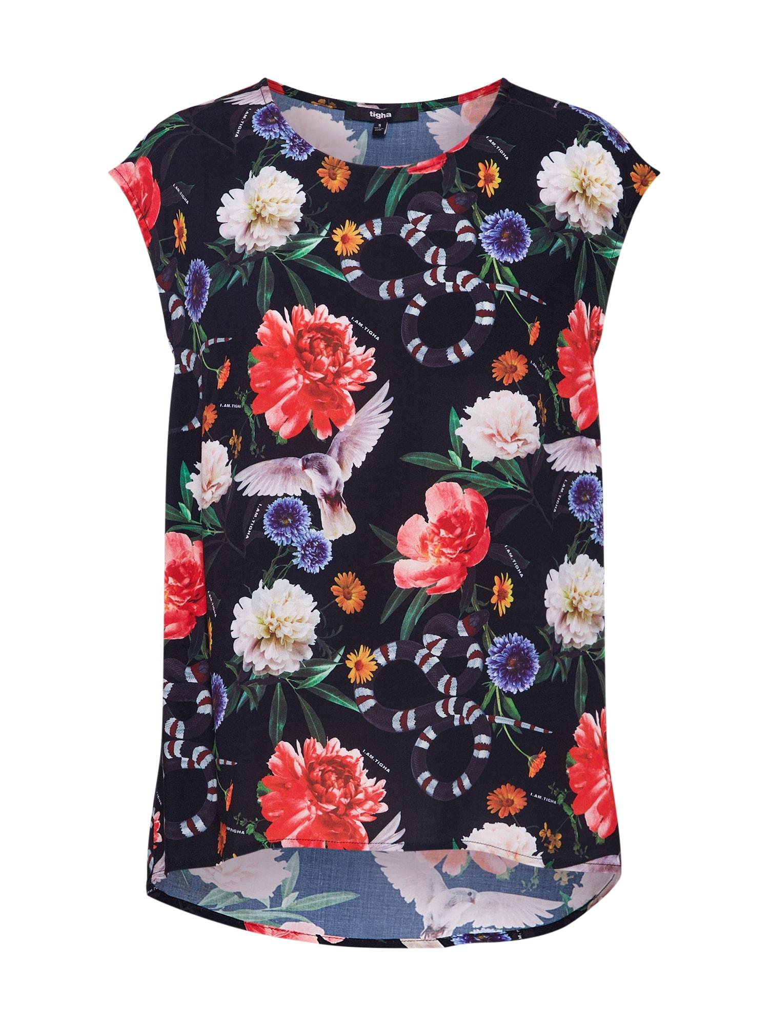 Tričko LINJA FLOWER černá Tigha