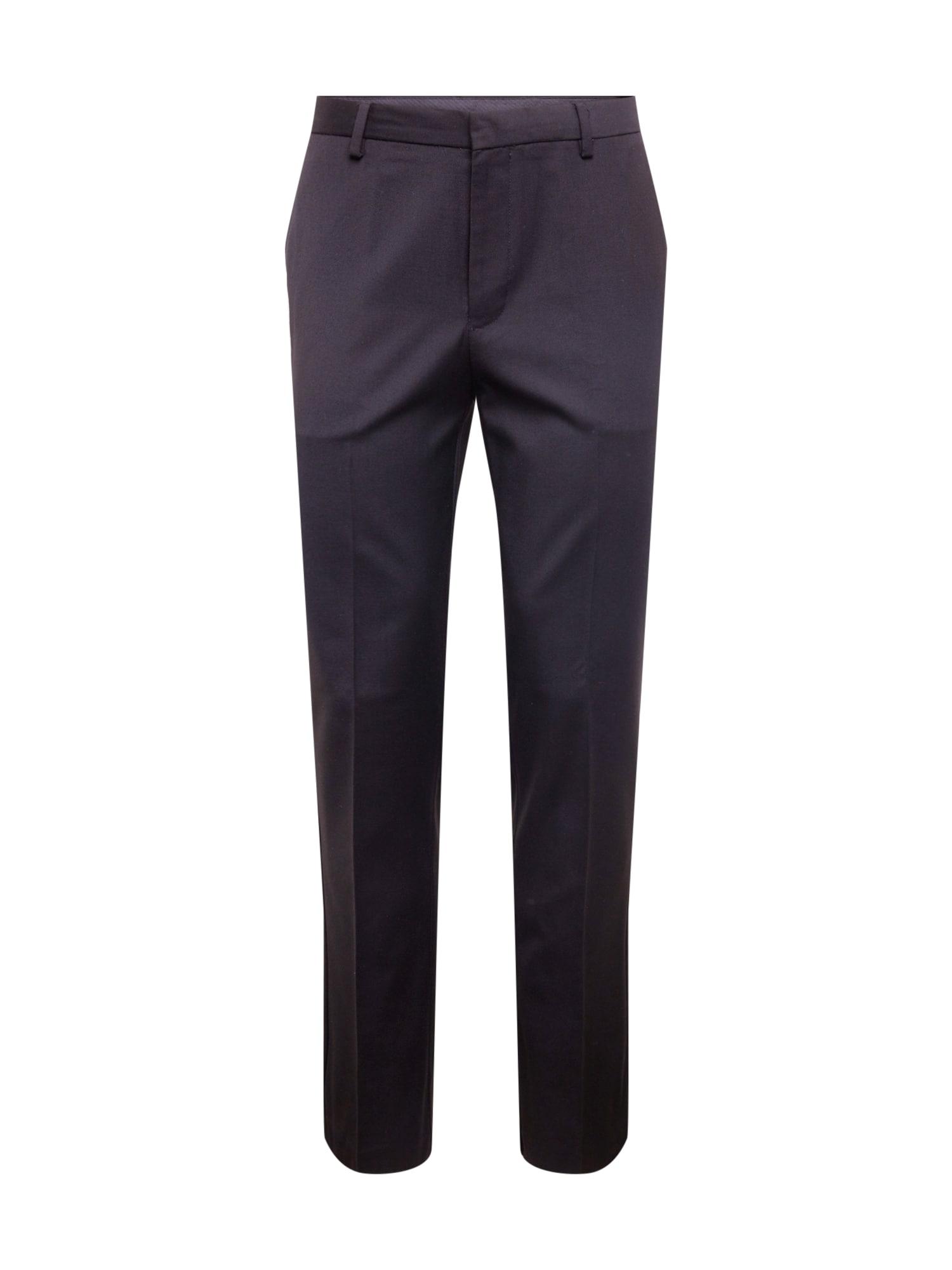 BURTON MENSWEAR LONDON Plisované nohavice  čierna