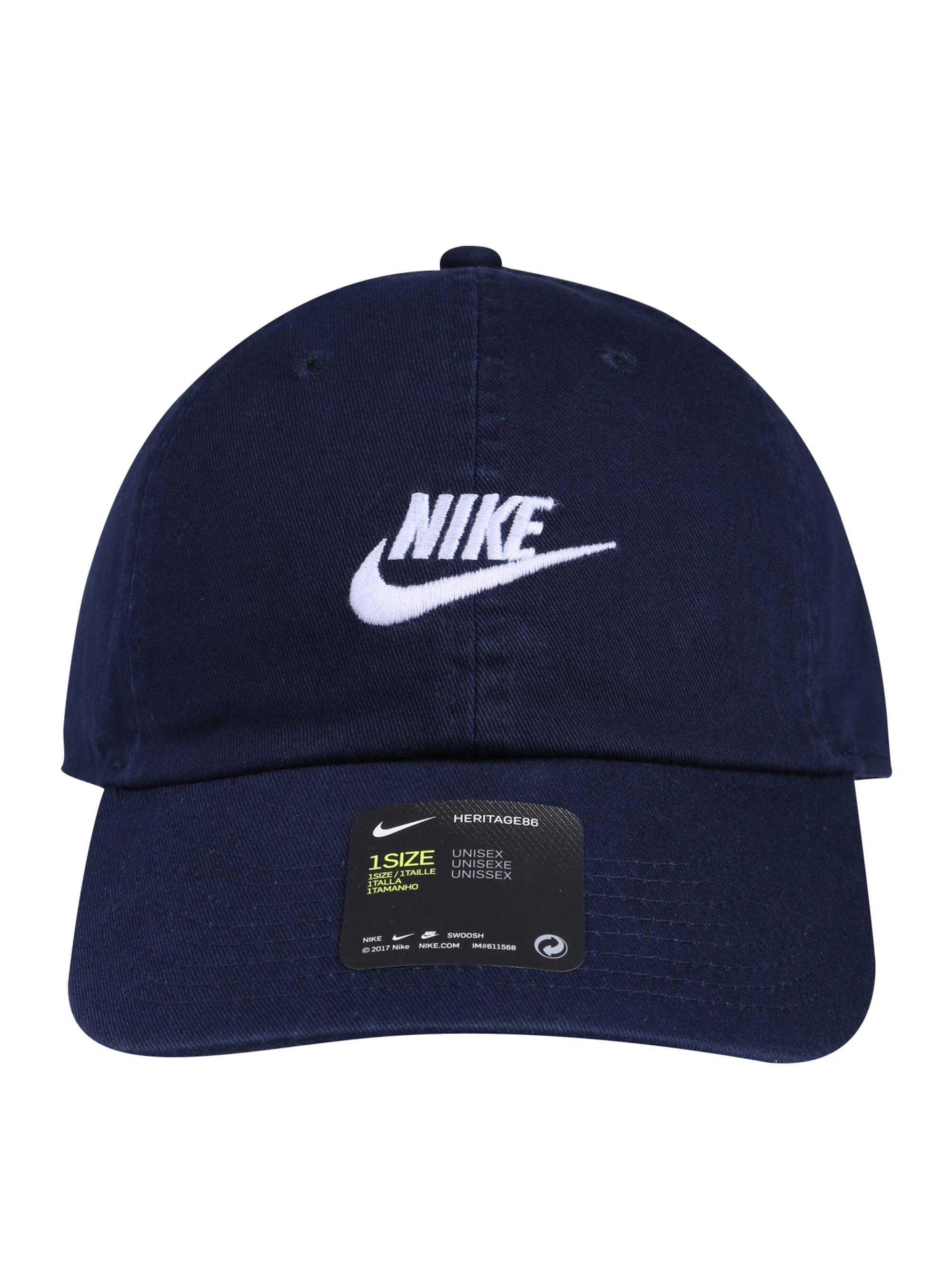 Nike Sportswear Czapka z daszkiem 'H86'  ciemny niebieski / biały