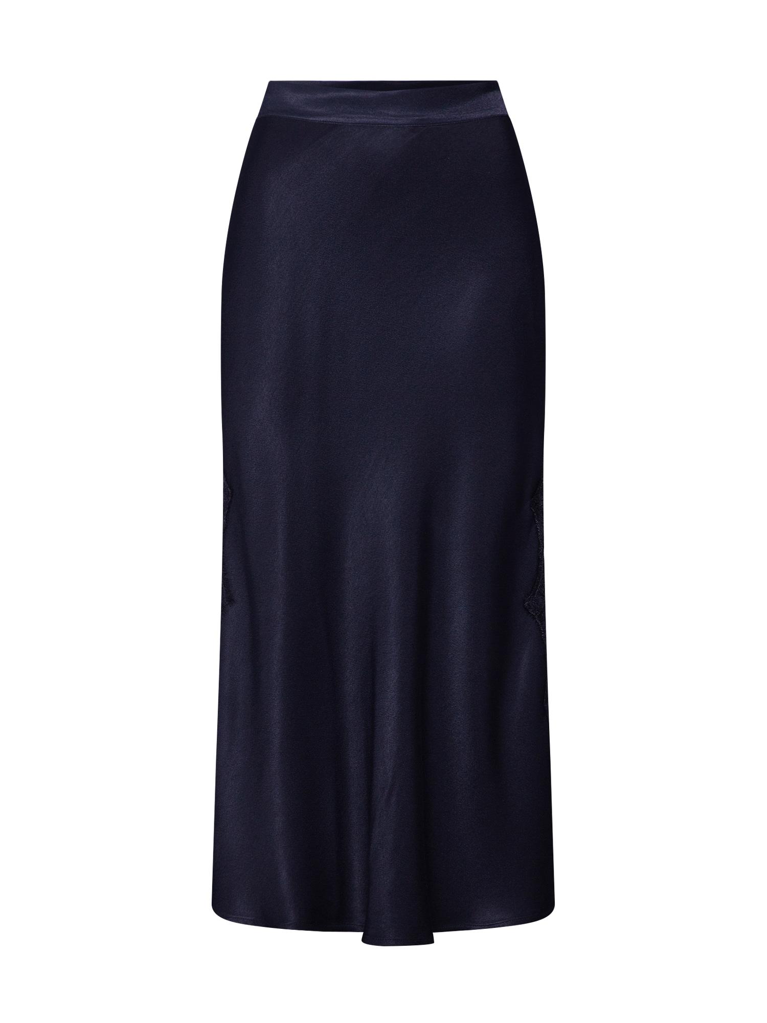 Sukně Midi Skirt with Lace černá Ragdoll LA