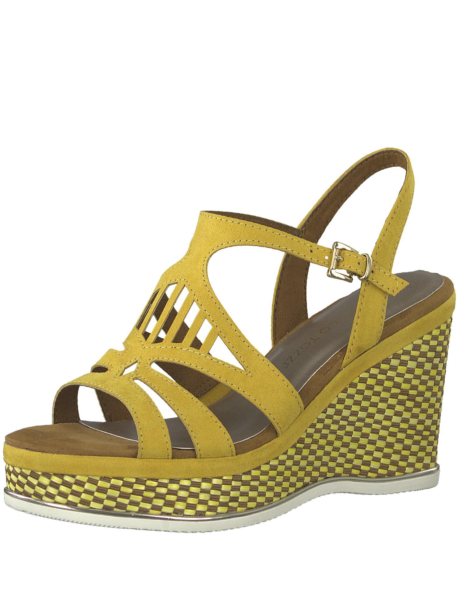 Sandály Wedge žlutá oranžová MARCO TOZZI