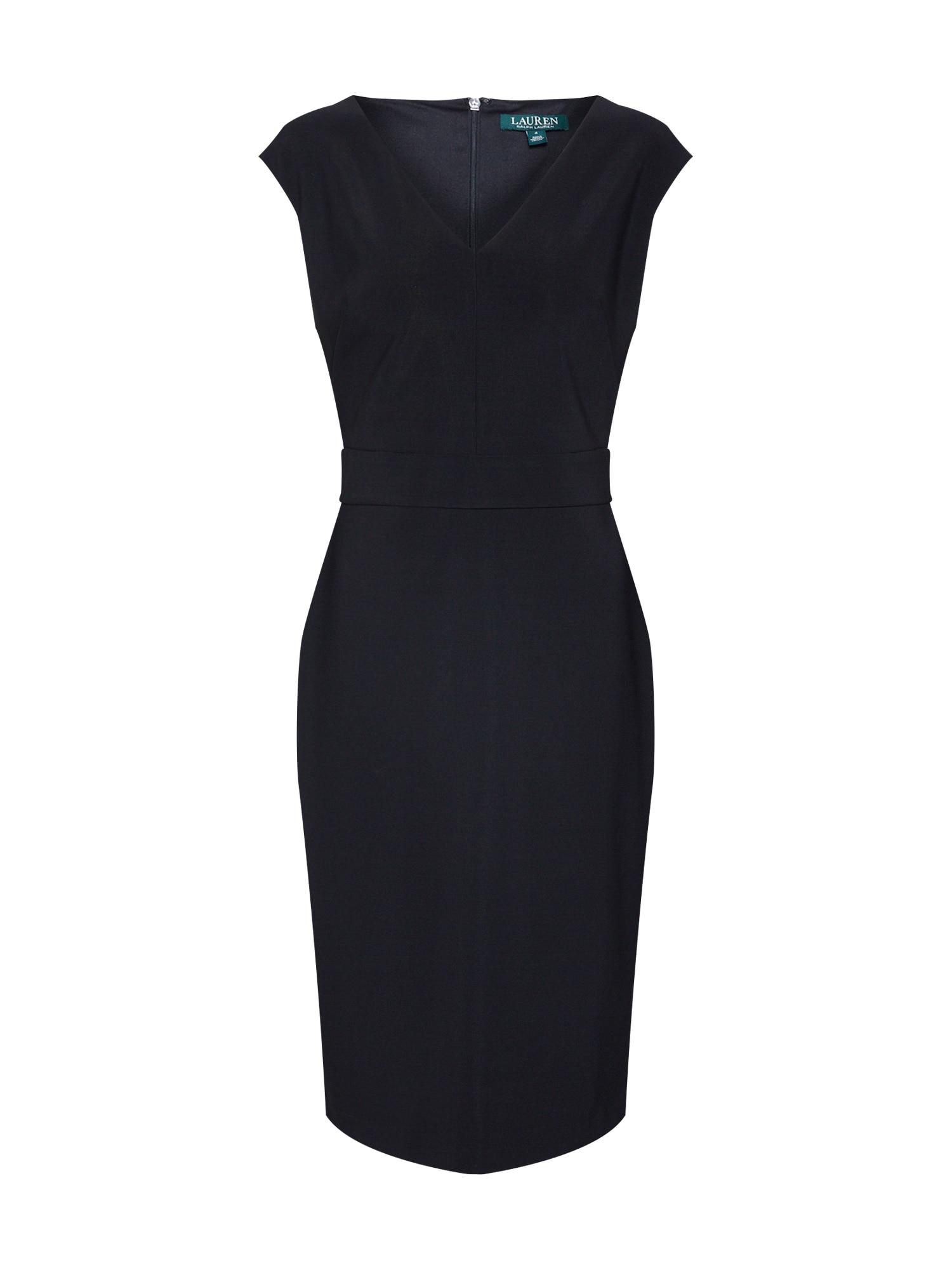 Pouzdrové šaty JANNETTE černá Lauren Ralph Lauren