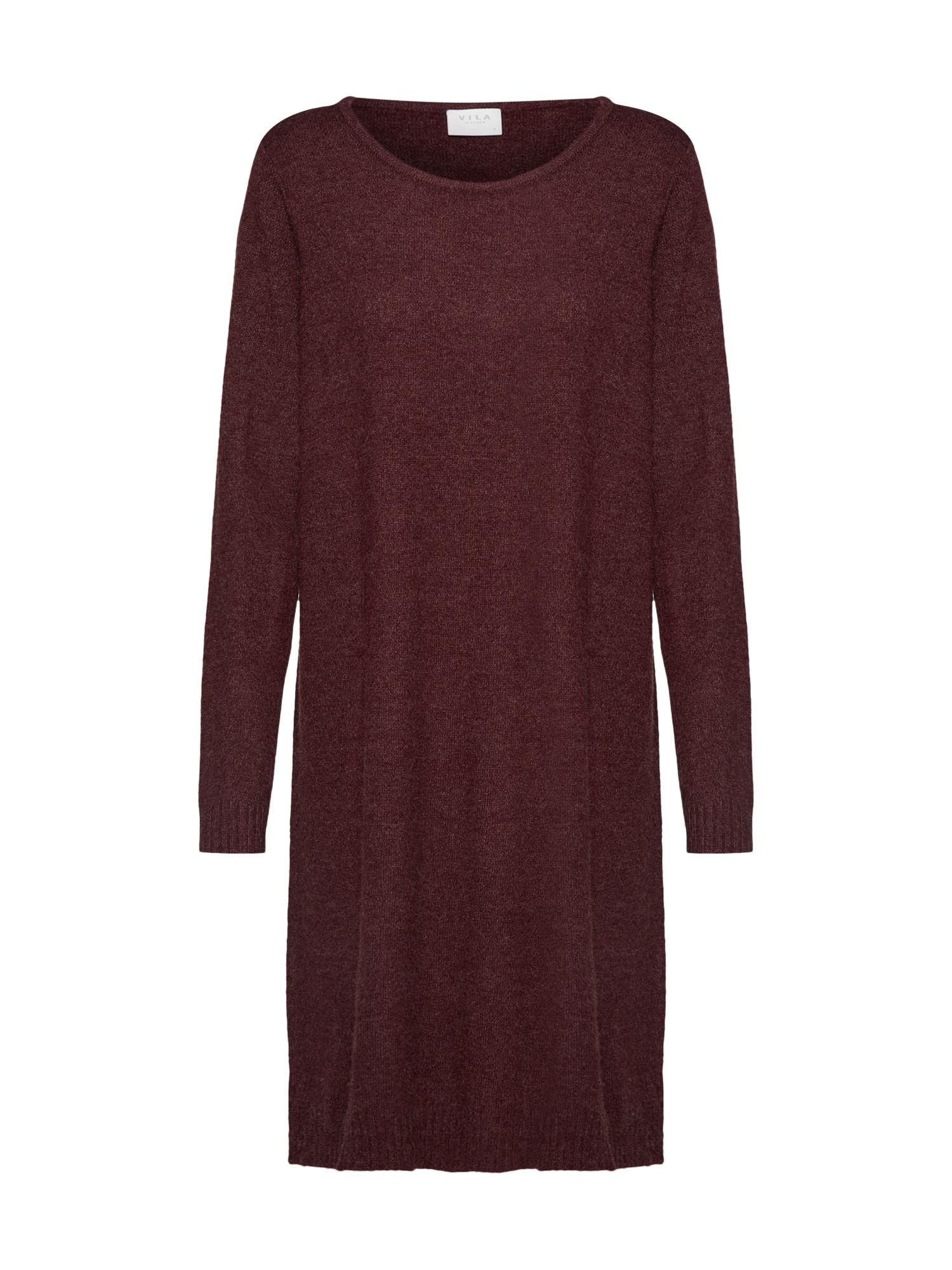Úpletové šaty vínově červená VILA