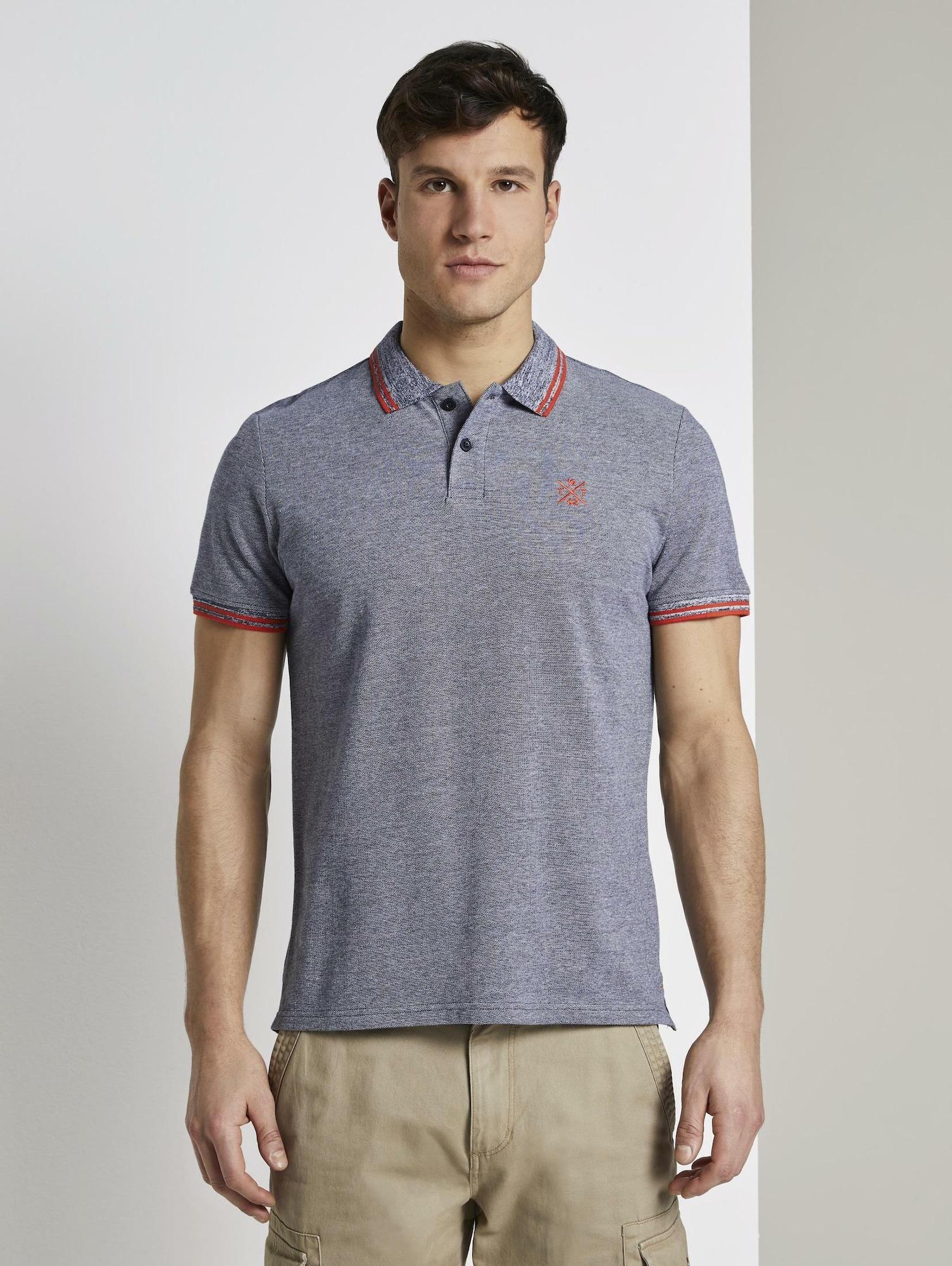 TOM TAILOR Tričko  červená / chladná modrá