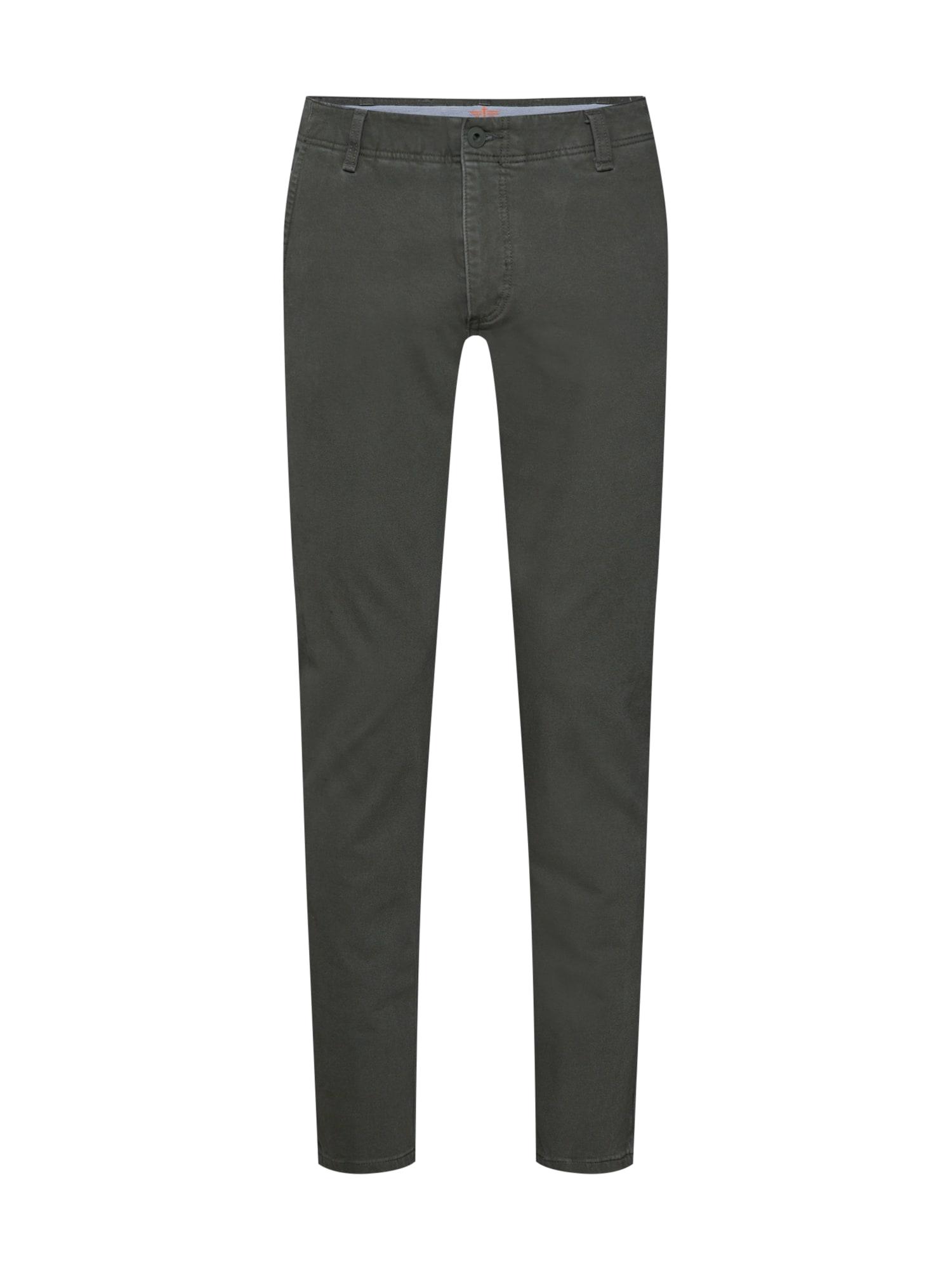 Kalhoty SMART 360 FLEX ALPHA SLIM (TAPERED) olivová Dockers