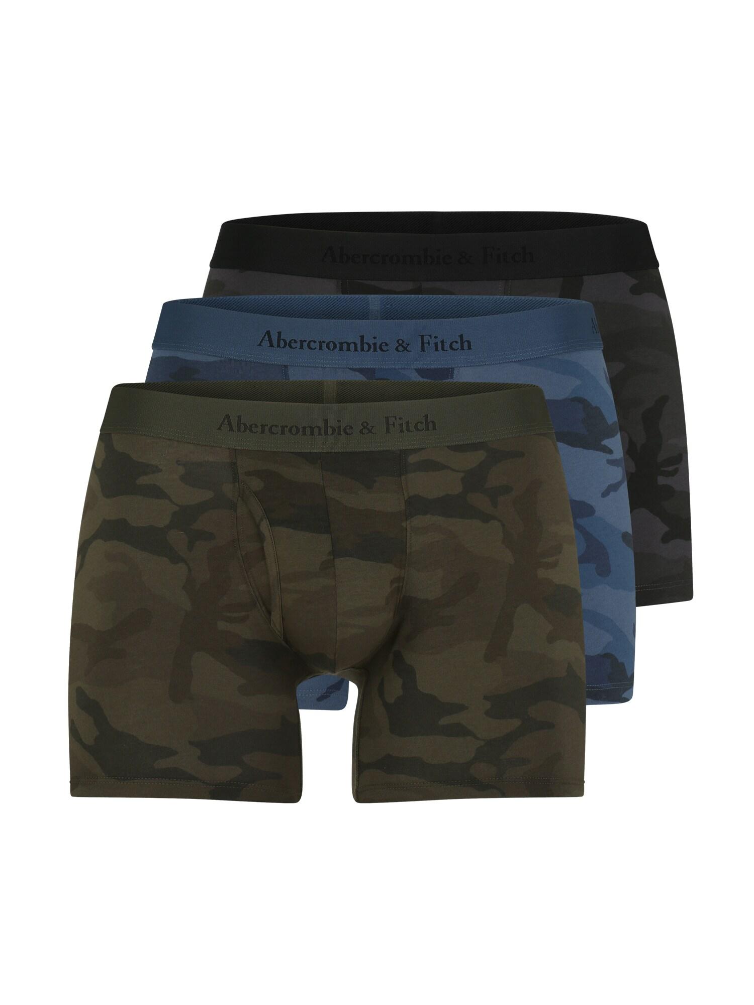 Boxerky modrá zelená černá Abercrombie & Fitch