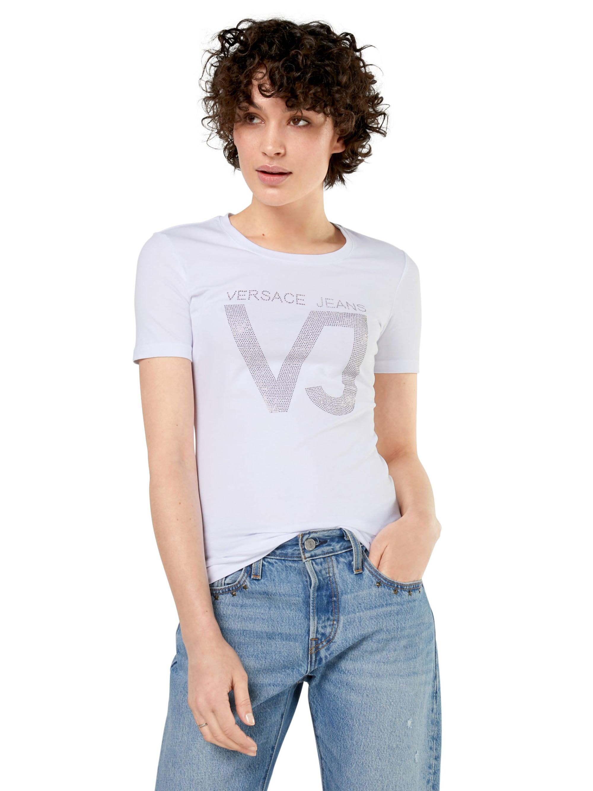Versace Jeans Koszulka 'RDM606 45VJ'  biały