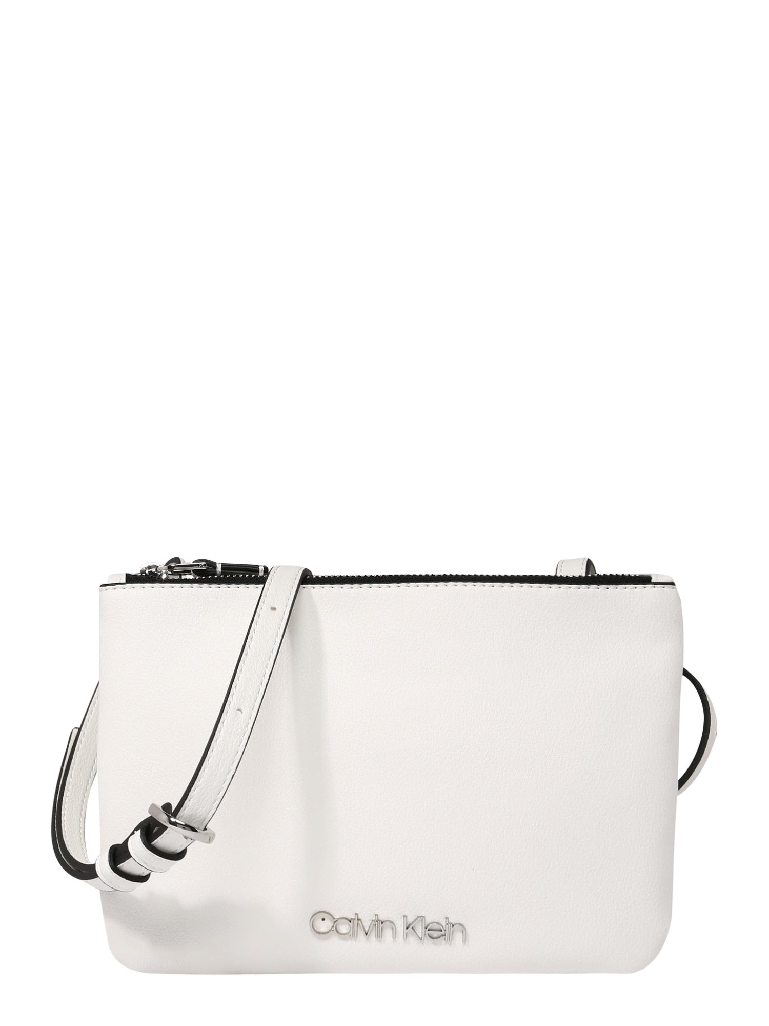 Taška přes rameno CK MUST EW CROSSBODY WH bílá Calvin Klein