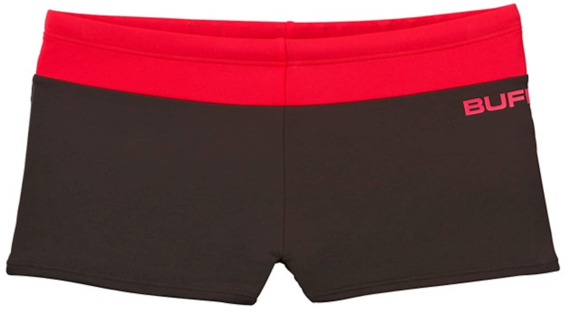 Boxer-Badehose   Bekleidung > Bademode > Boxerbadehosen   Rot - Schwarz   Buffalo