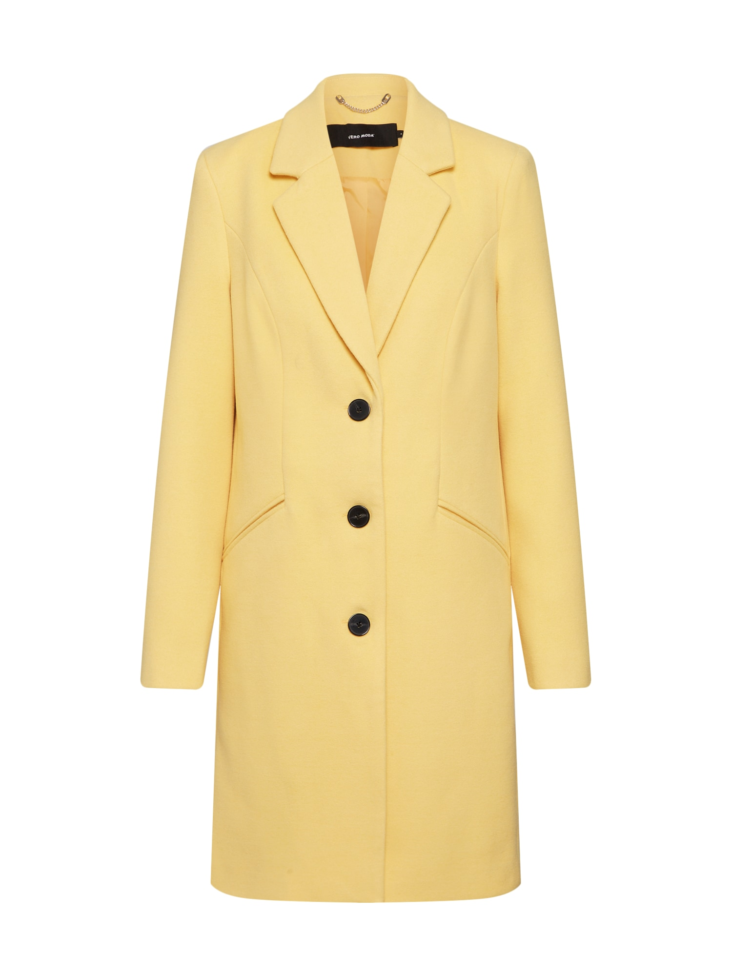 Přechodný kabát VMCINDY CALA žlutá VERO MODA