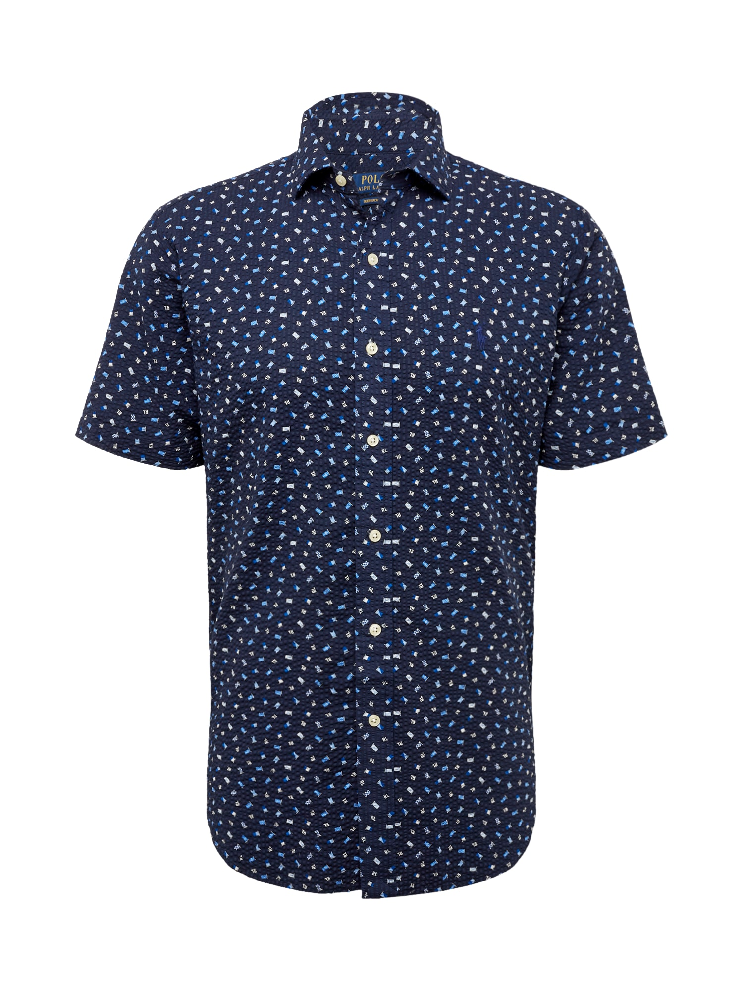 Košile SPRESTPPCSS-SHORT SLEEVE-SPORT SHIRT tmavě modrá mix barev POLO RALPH LAUREN