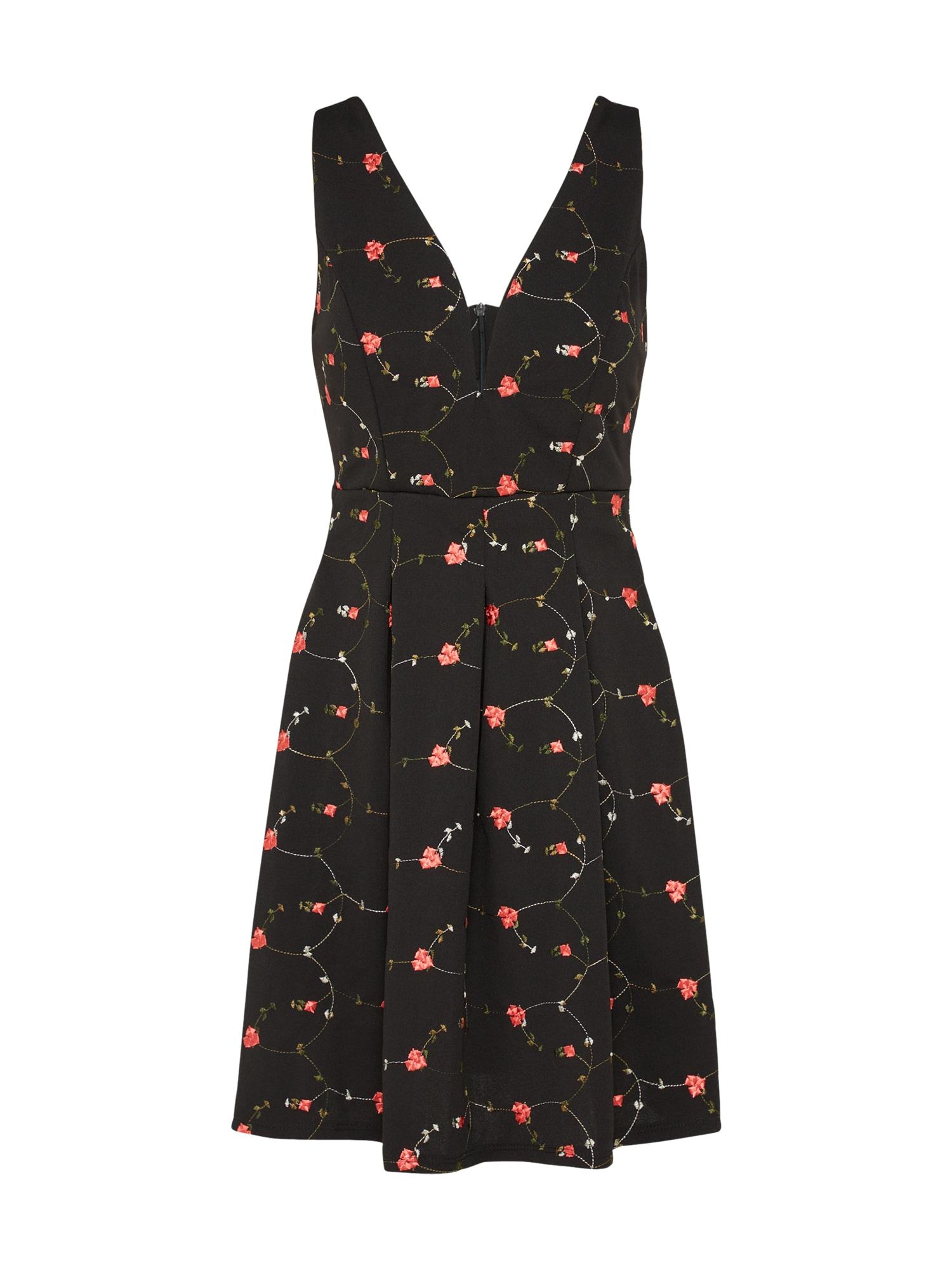Koktejlové šaty 7502 mix barev černá WAL G.