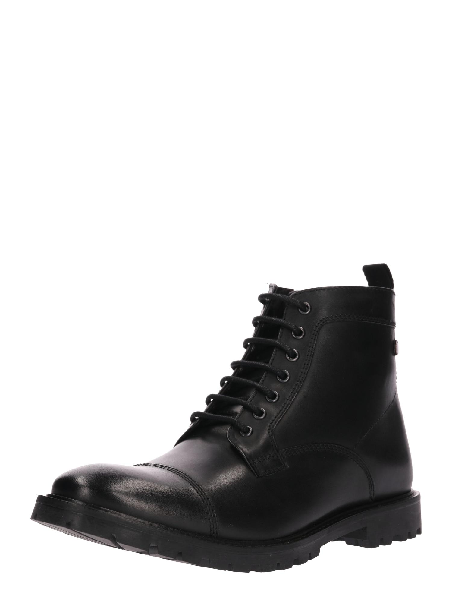 Šněrovací boty BRIGADE černá Base London
