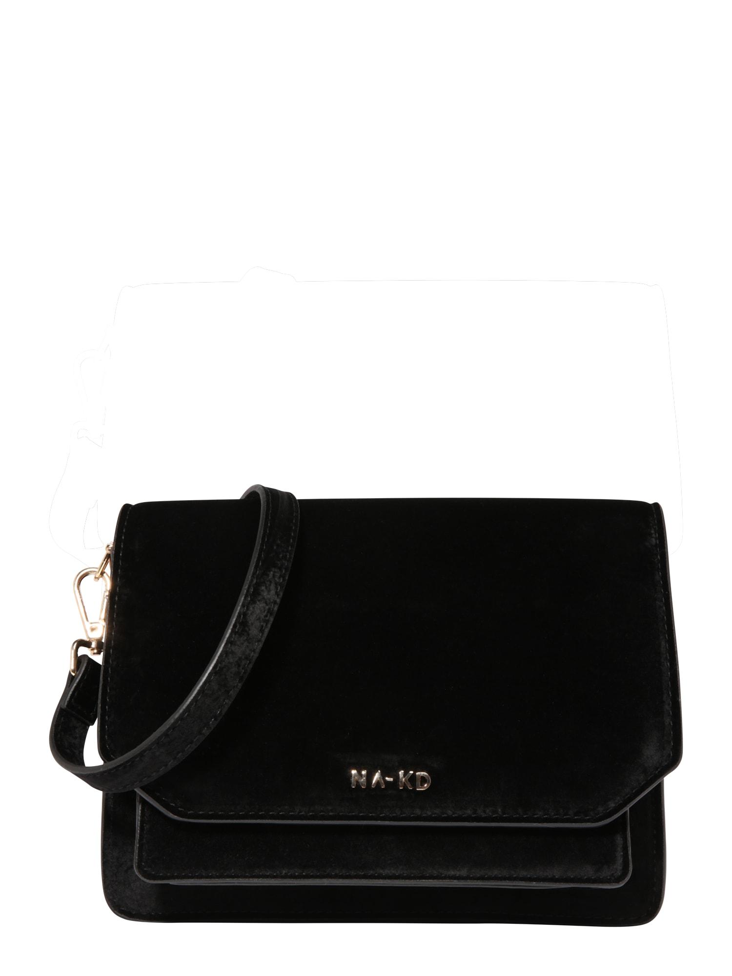 Taška přes rameno velvet shoulder bag černá NA-KD