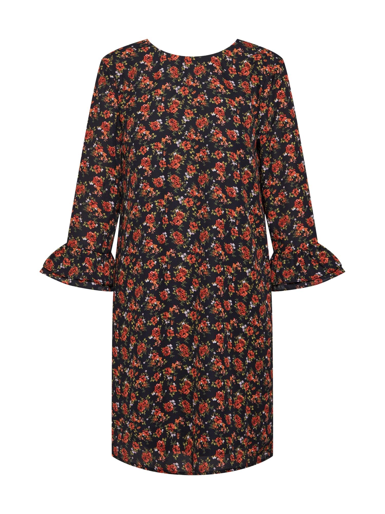 Šaty MELISSA červená černá Fashion Union