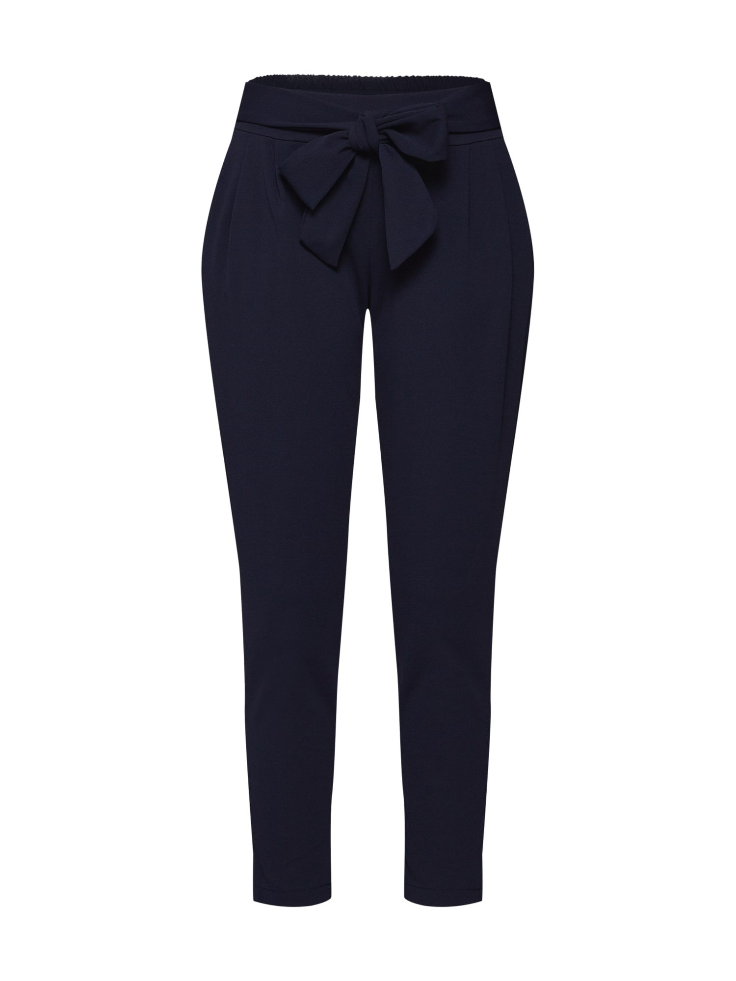 Kalhoty se sklady v pase Emilia námořnická modř Hailys