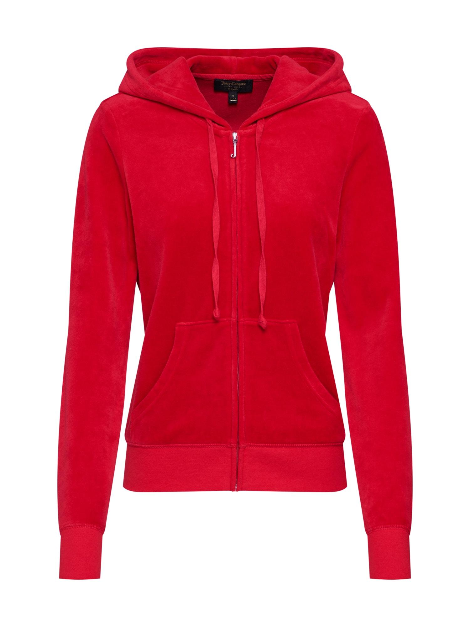 Mikina s kapucí Velour Robertson červená Juicy Couture Black Label