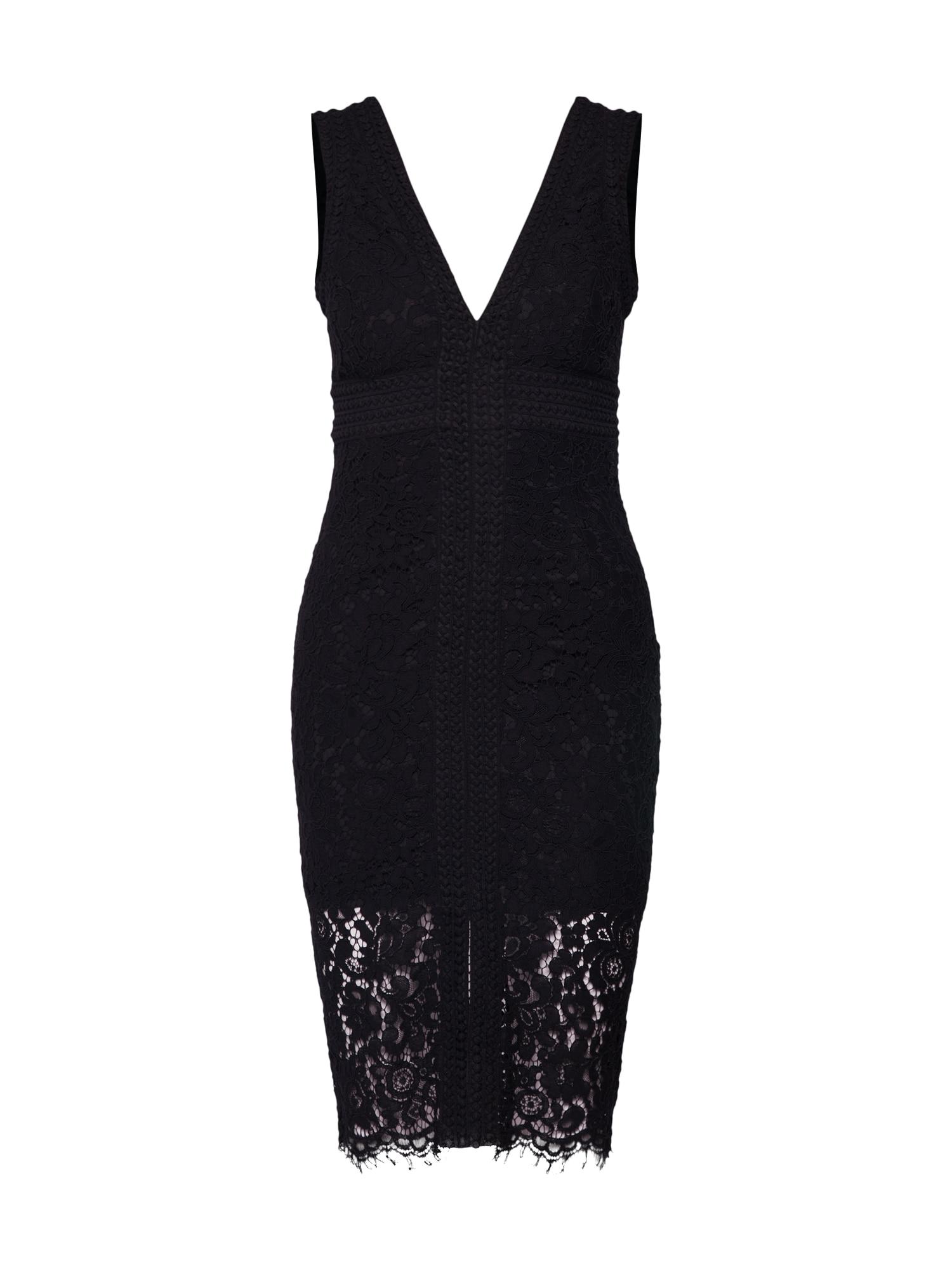 Šaty HALTER LACE DRESS černá Bardot