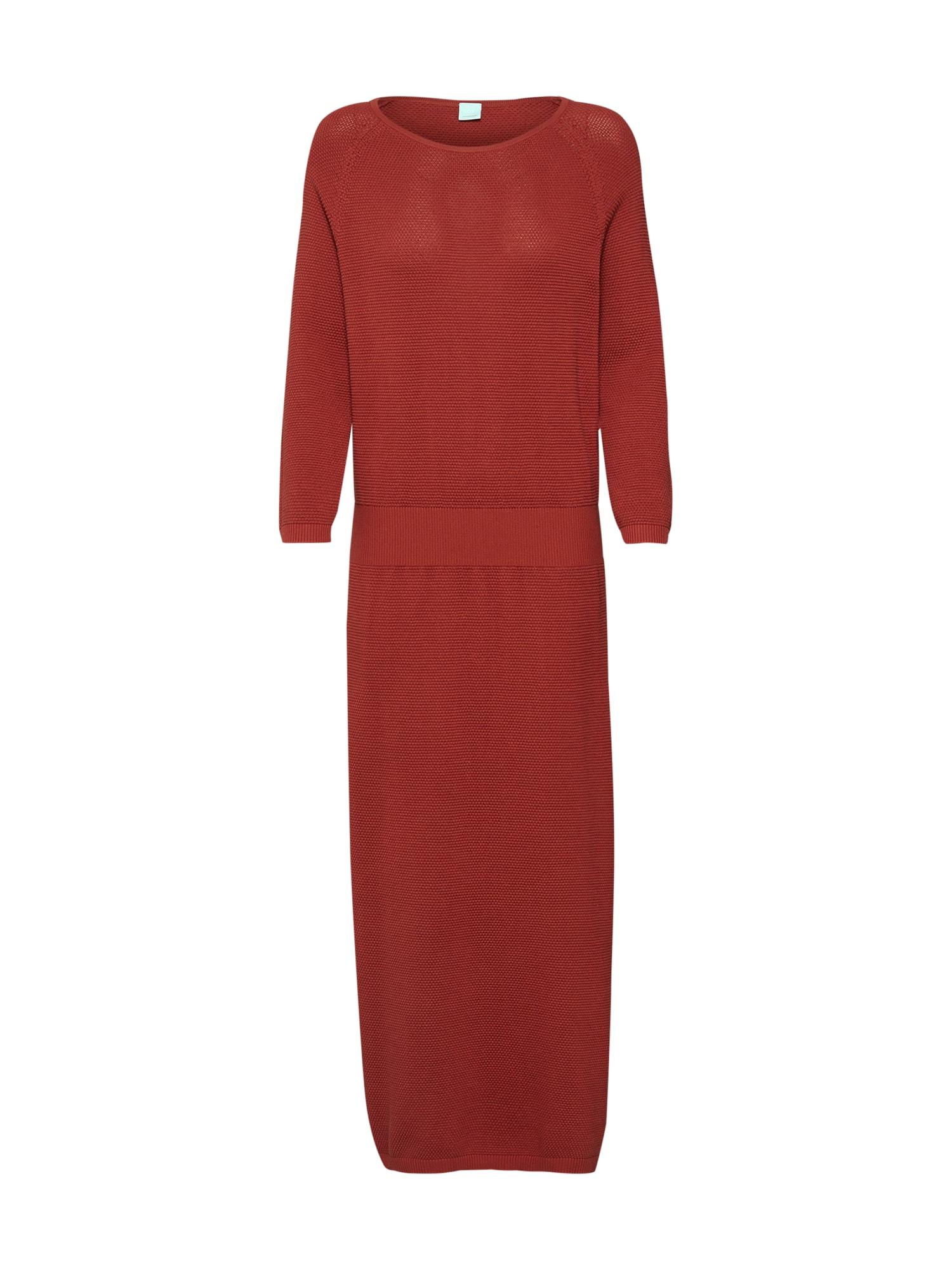 Úpletové šaty Witanya červená BOSS