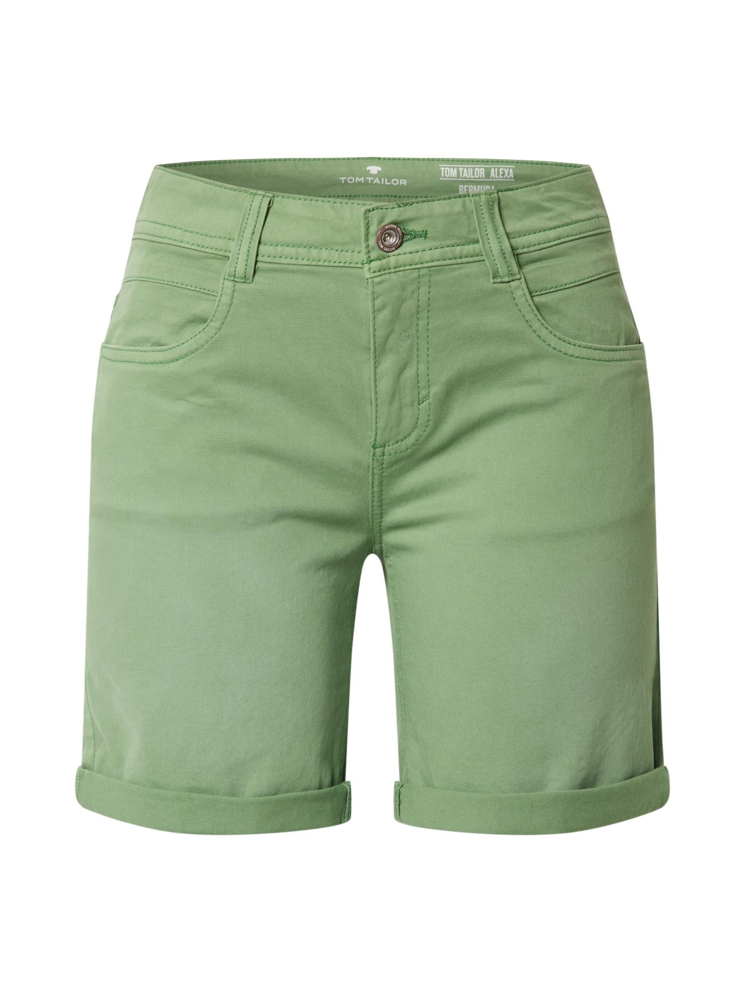 TOM TAILOR Kalhoty 'Alexa'  zelená
