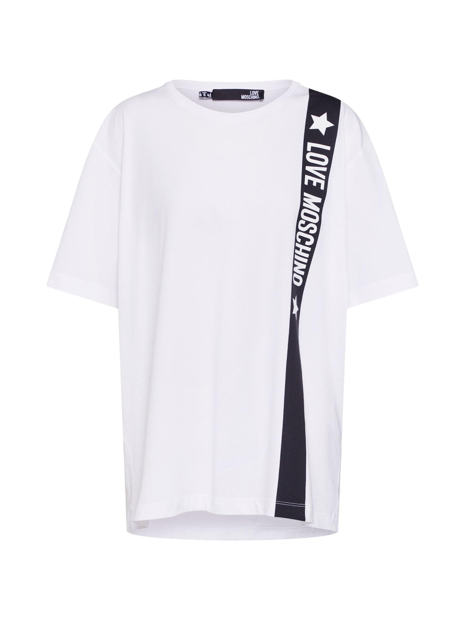 Tričko MAGLIETTA STELLE černá bílá Love Moschino