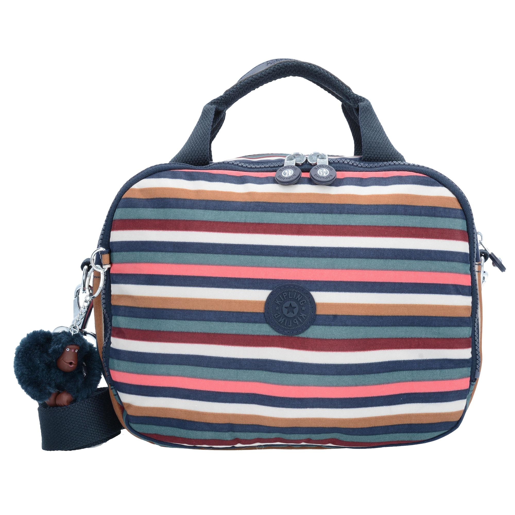KIPLING, Dames Toilettas 'Basic Travel Palmbeach 17', blauw / lichtbruin / gemengde kleuren / pink / rood / wit