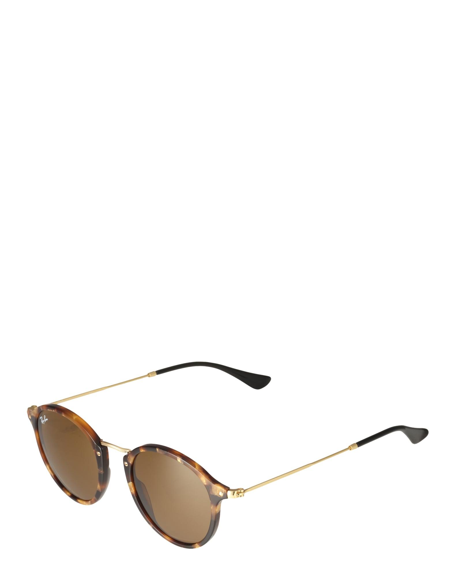 Ray-Ban RB2447 1160 - Round Fleck - zonnebril - Tortoise-Goud / Bruin Klassiek B-15 - 49mm