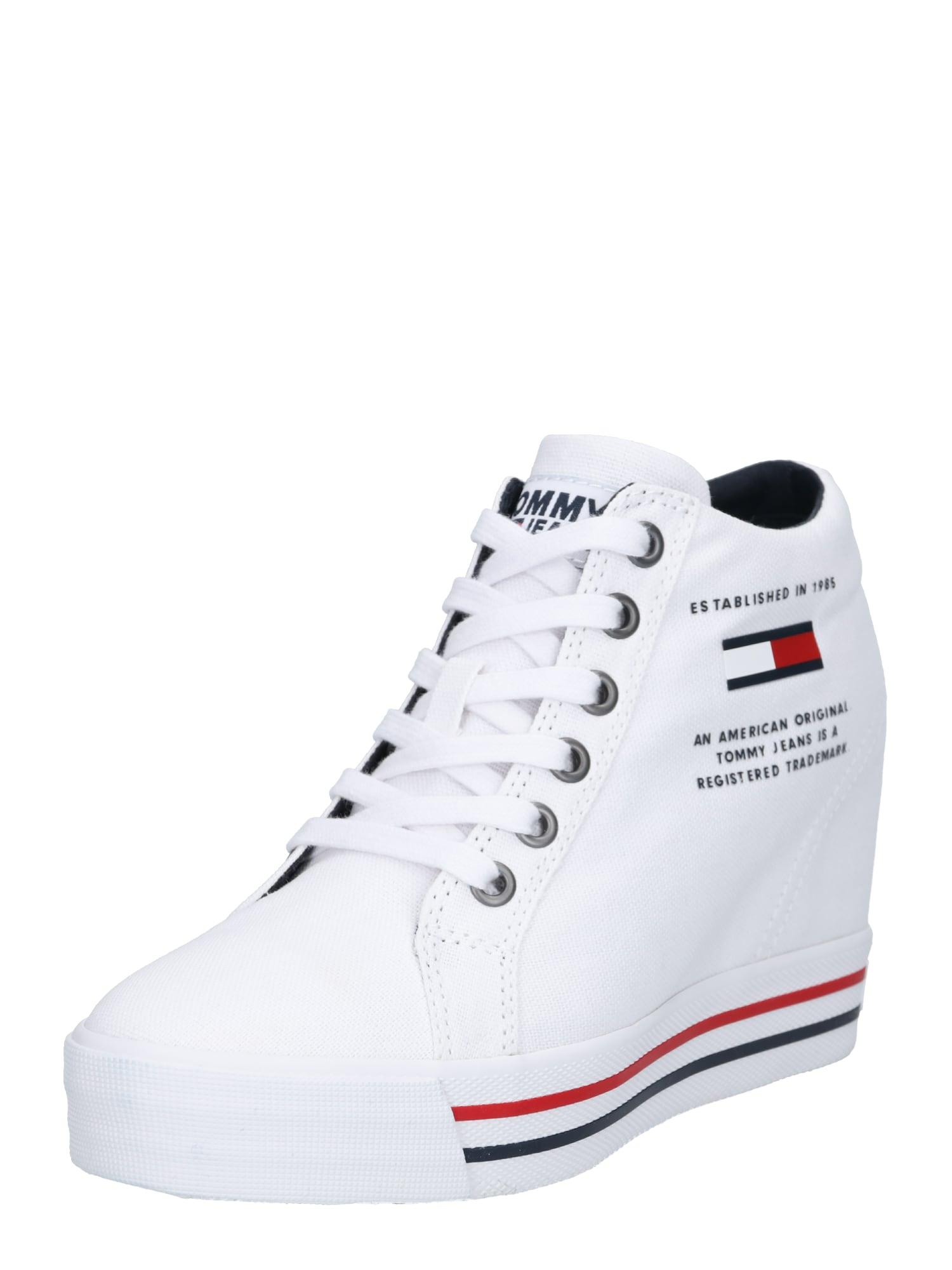 Tommy Jeans Kotníkové tenisky 'NICE WEDGE 1D'  bílá