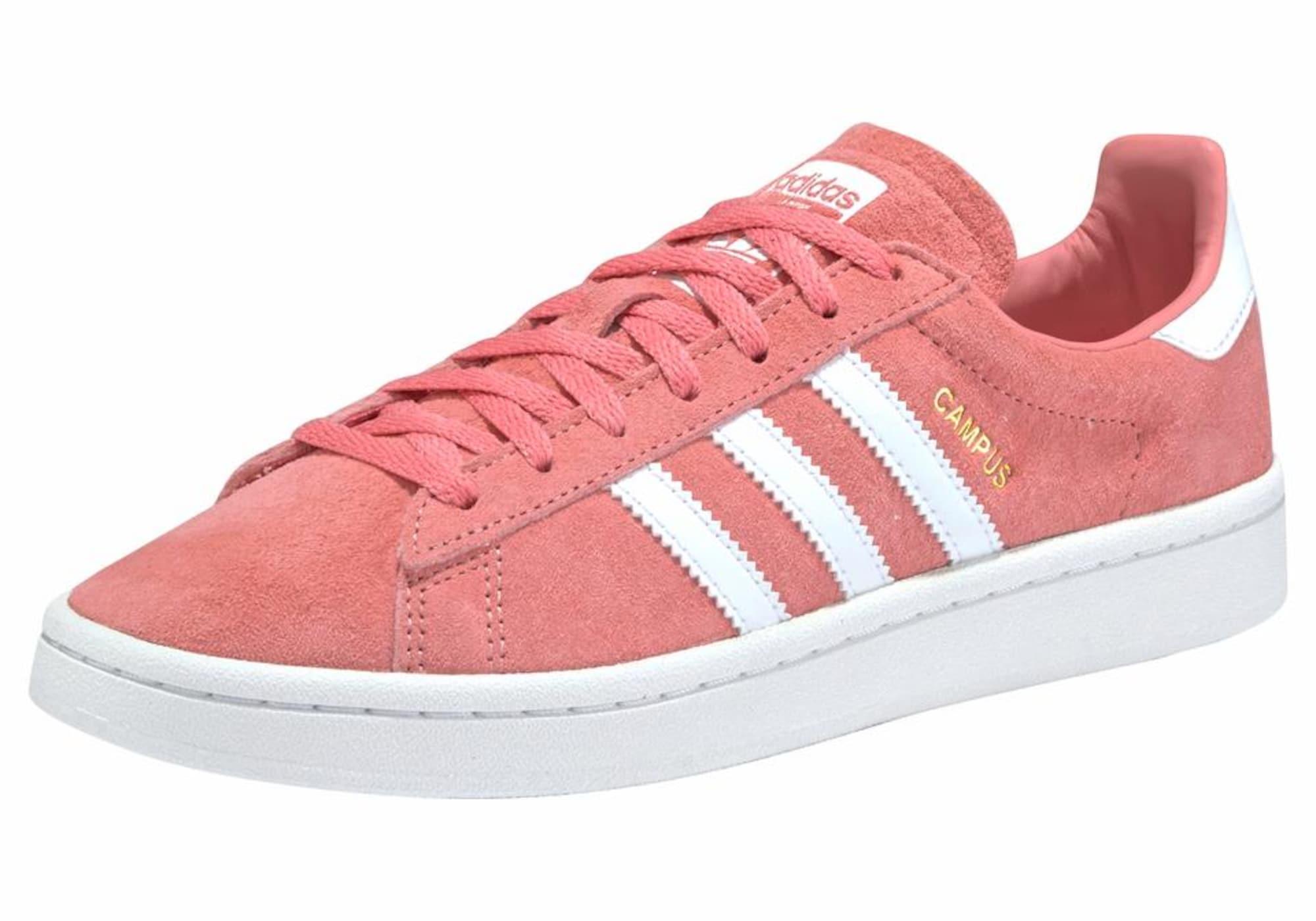 ADIDAS ORIGINALS, Heren Sneakers laag 'Campus W Gum', rosé / wit