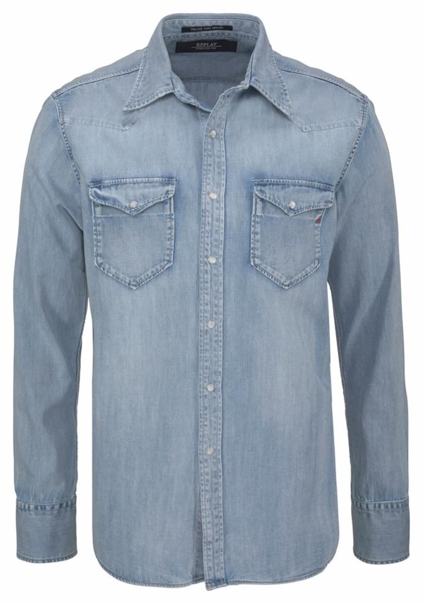 REPLAY Heren Overhemd lichtblauw