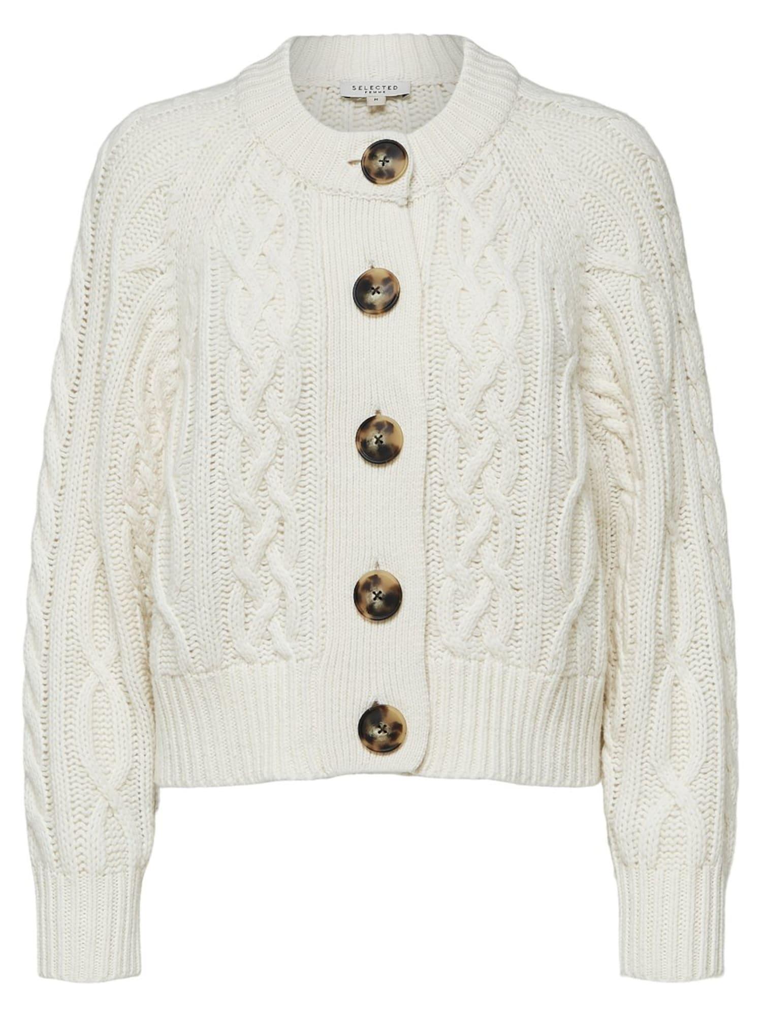 Strick-Cardigan | Bekleidung > Pullover | Weiß | Selected Femme