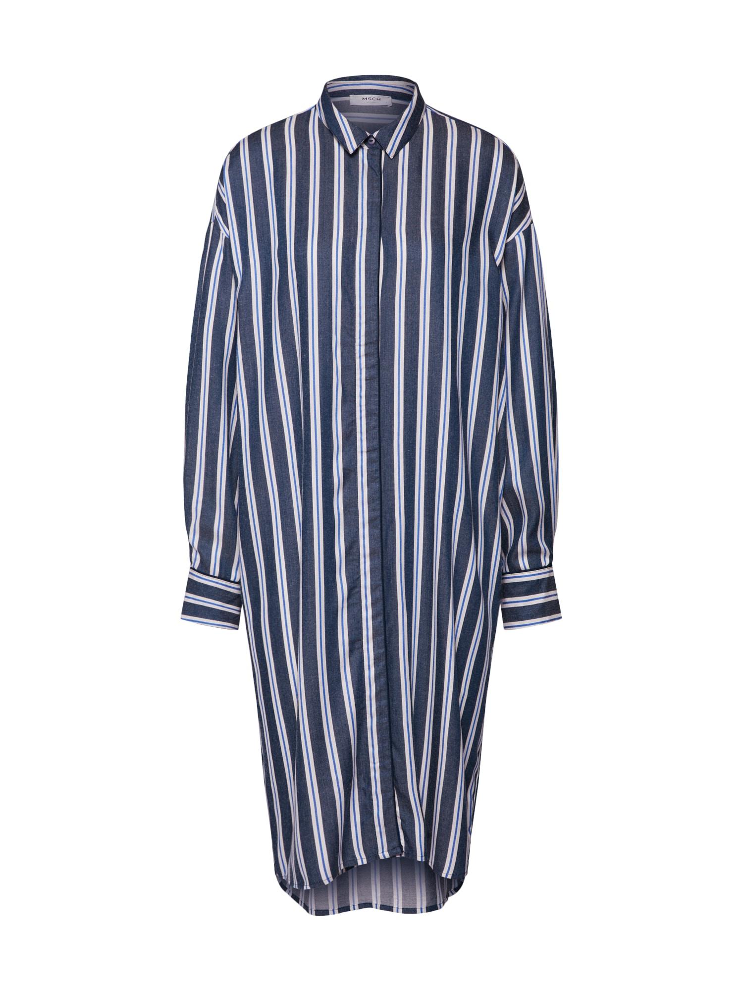 Košilové šaty Alana modrá MOSS COPENHAGEN