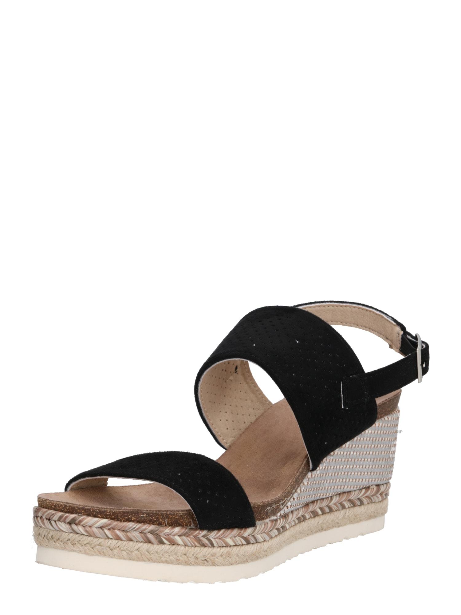 Páskové sandály béžová černá H.I.S