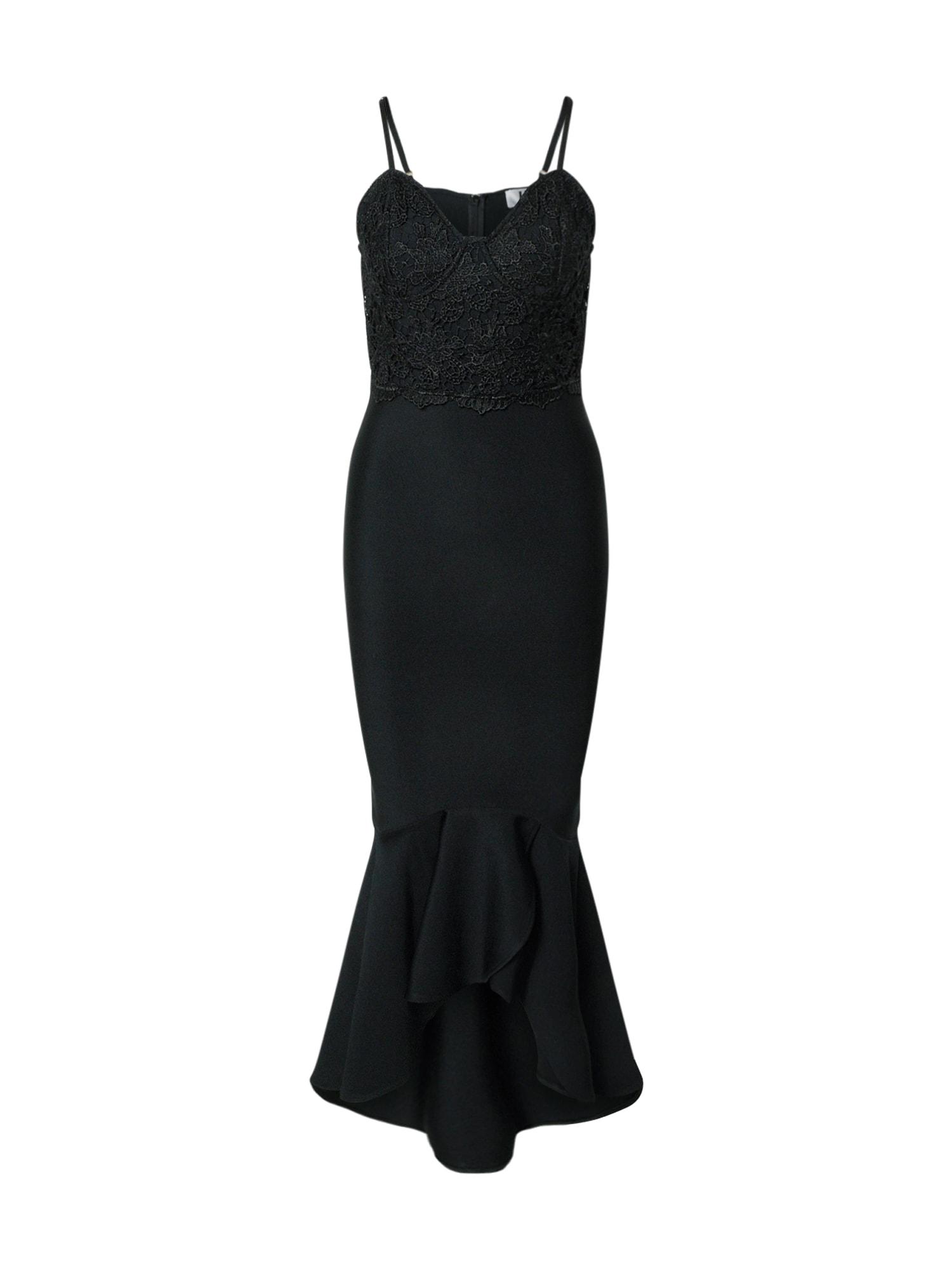 Forever Unique Večerné šaty  čierna
