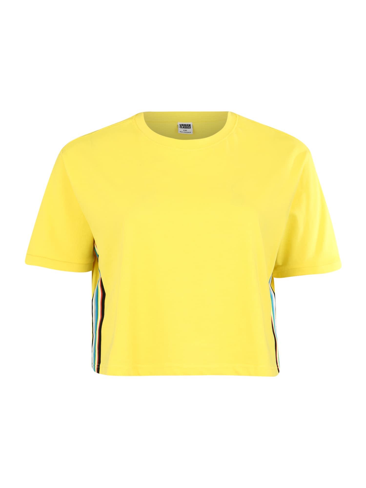 Tričko žlutá mix barev Urban Classics Curvy
