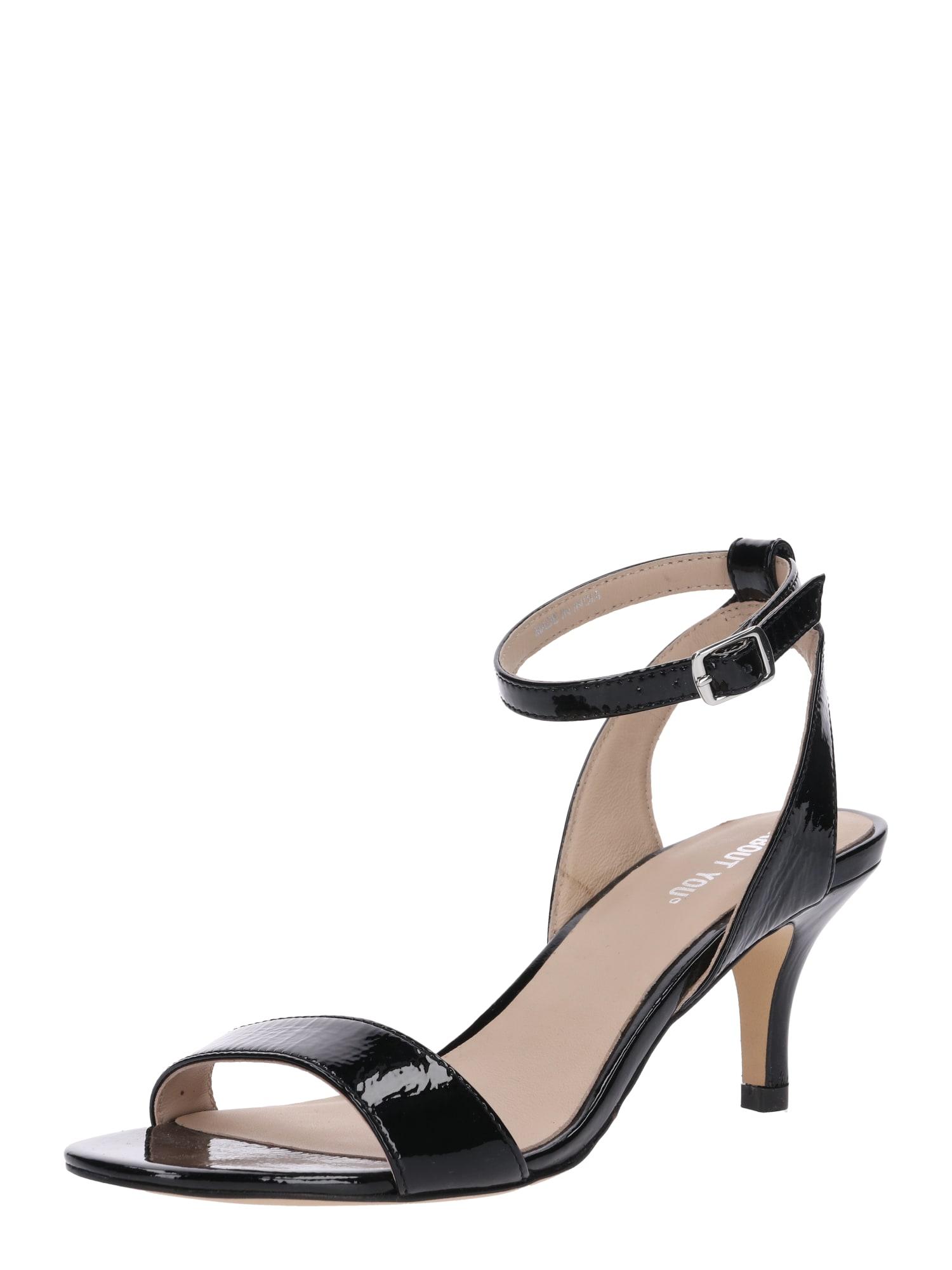 Páskové sandály Yasmina černá ABOUT YOU