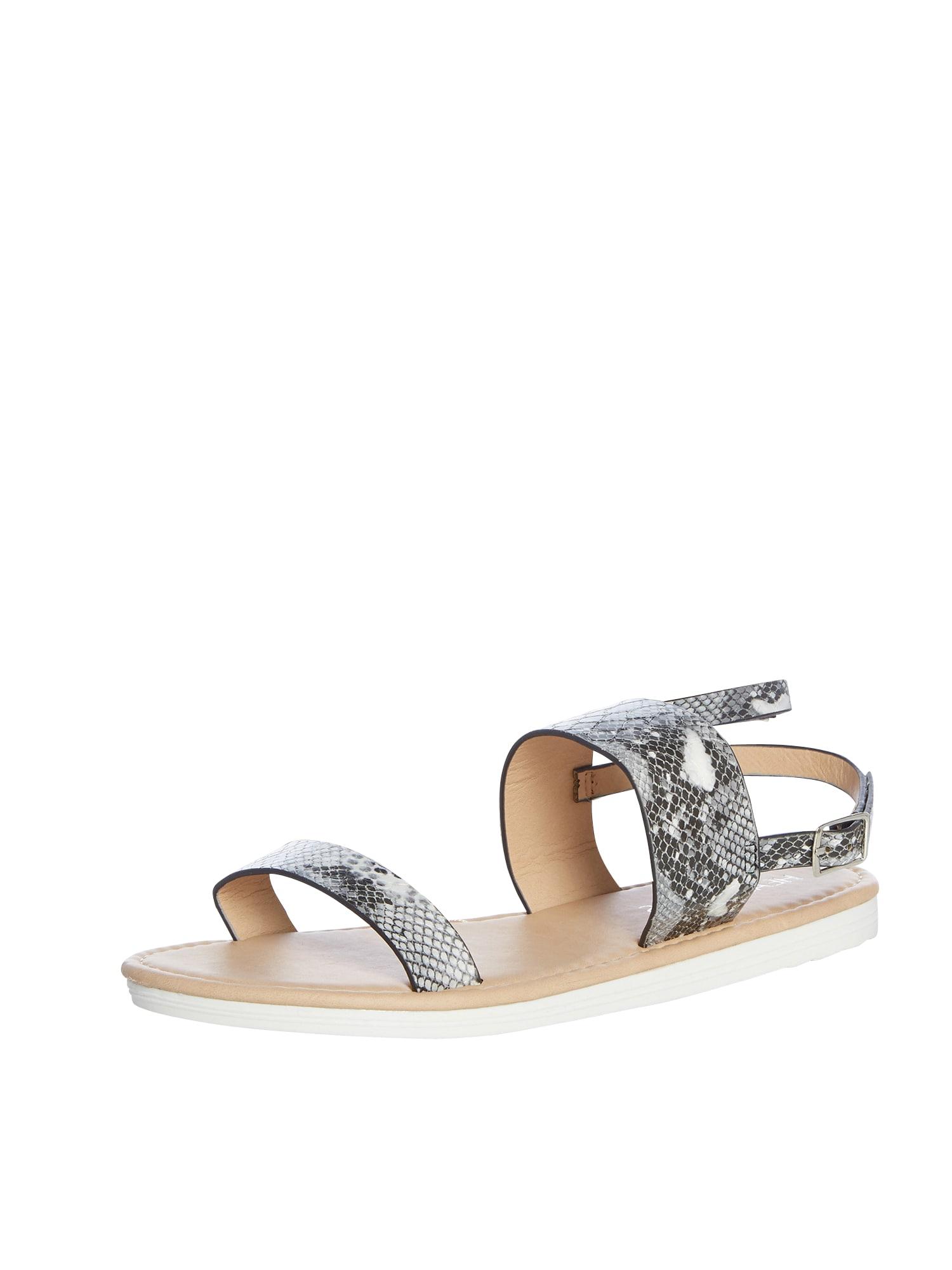 Páskové sandály Laila šedá černá bílá Head Over Heels