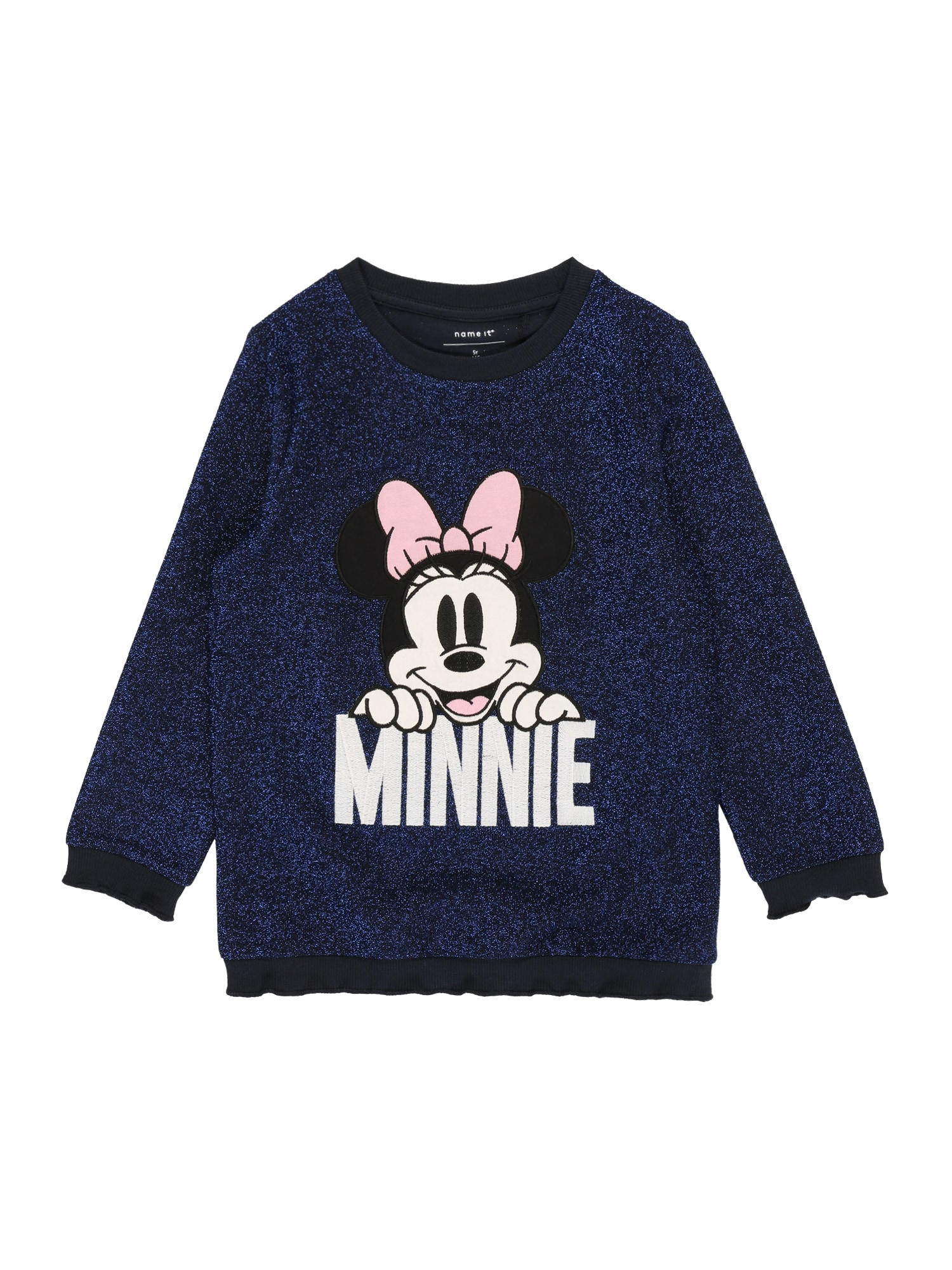 NAME IT Mikina 'NMFMINNIE REBEC SWEAT WDI'  safírová