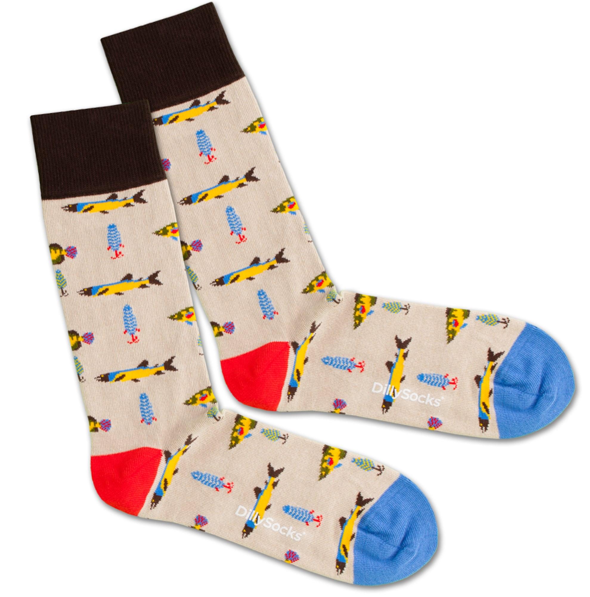 Ponožky Fisherman béžová žlutá DillySocks